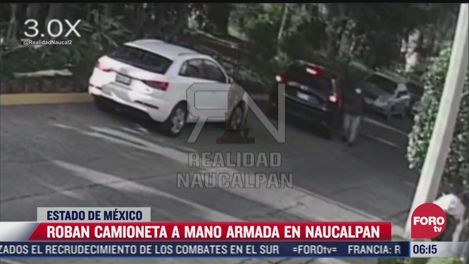 video roban camioneta a mano armada en naucalpan