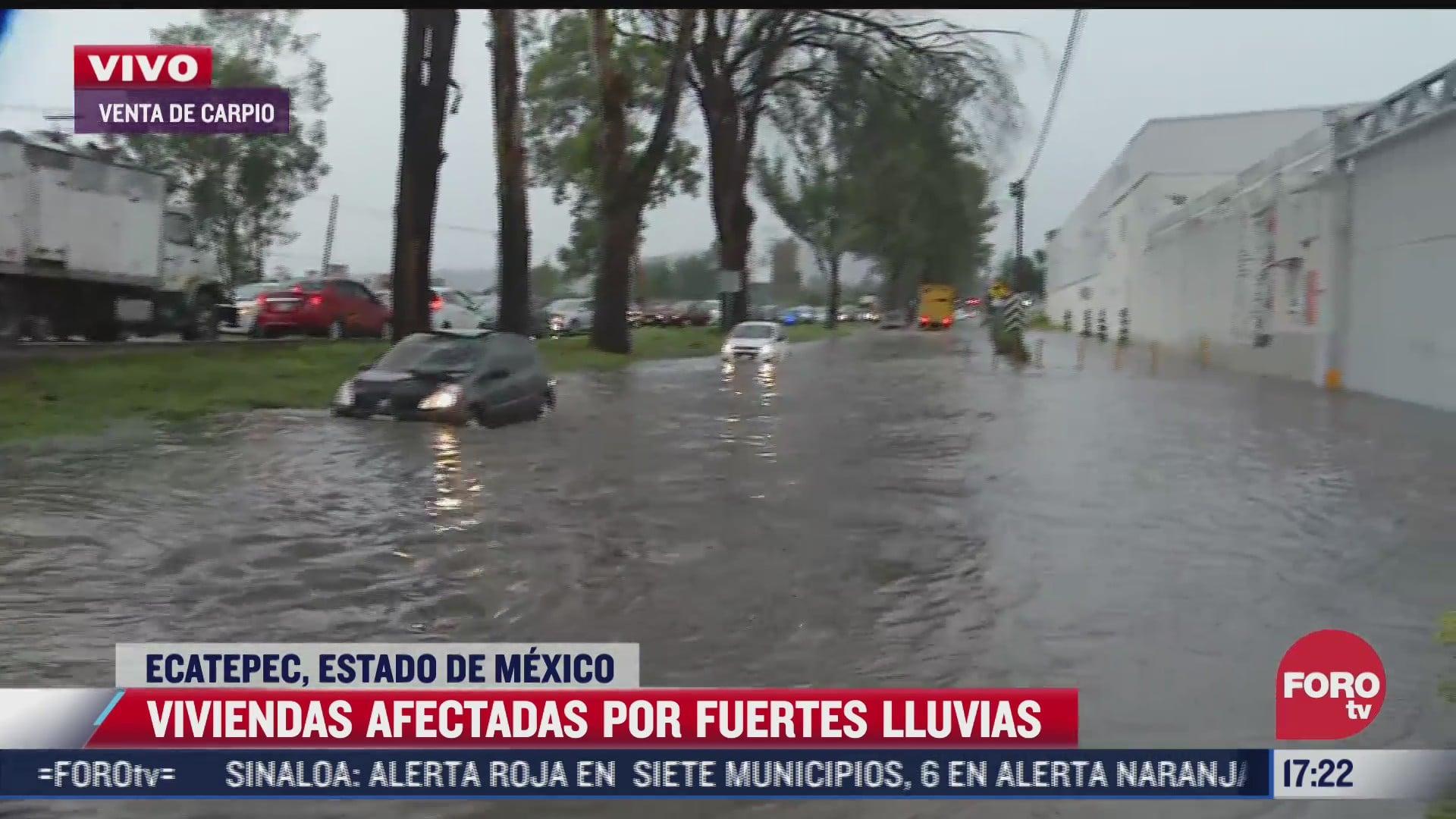 viviendas afectadas por fuertes lluvias en ecatepec