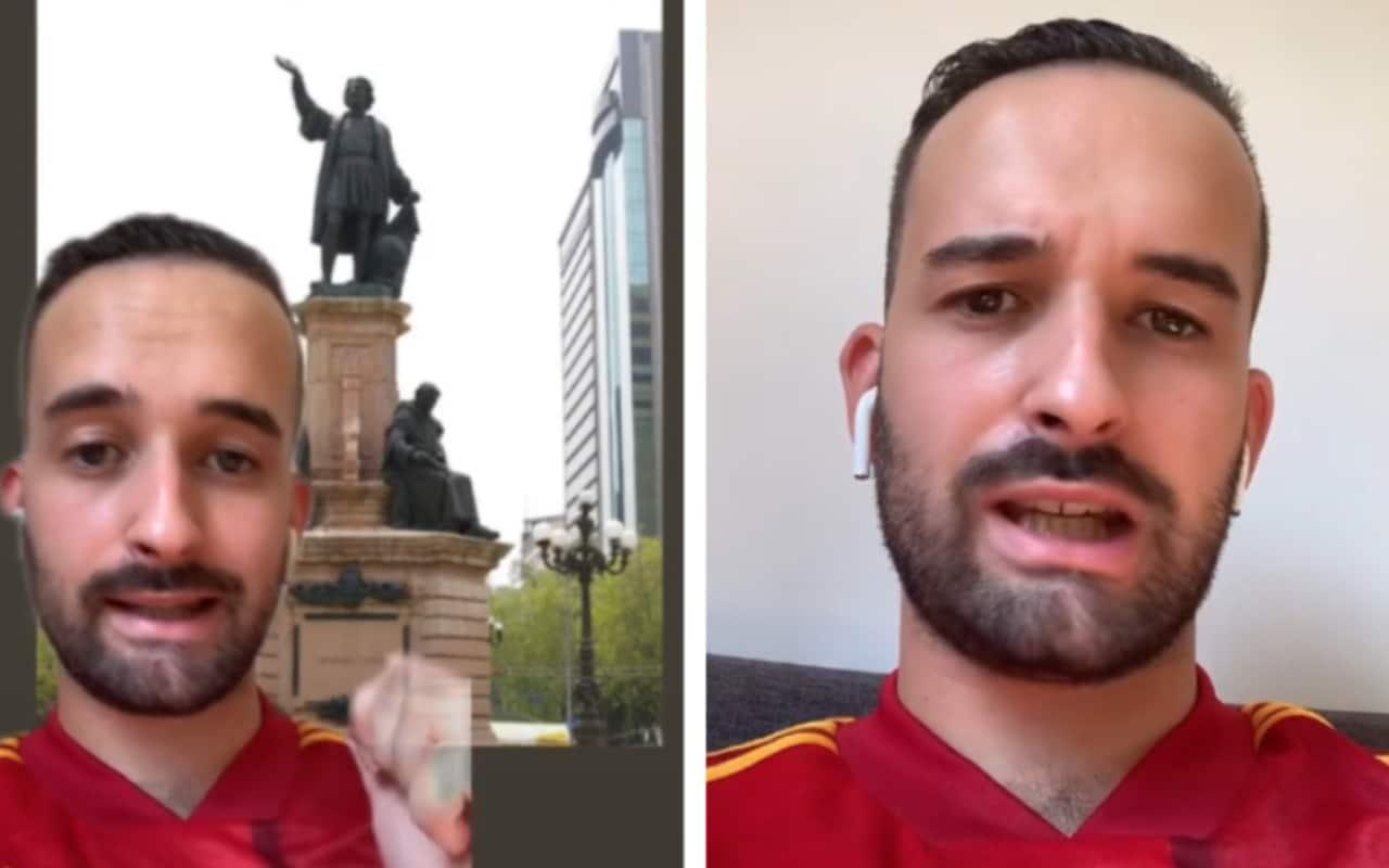 Español critica que quiten estatua de Colón en TikTok