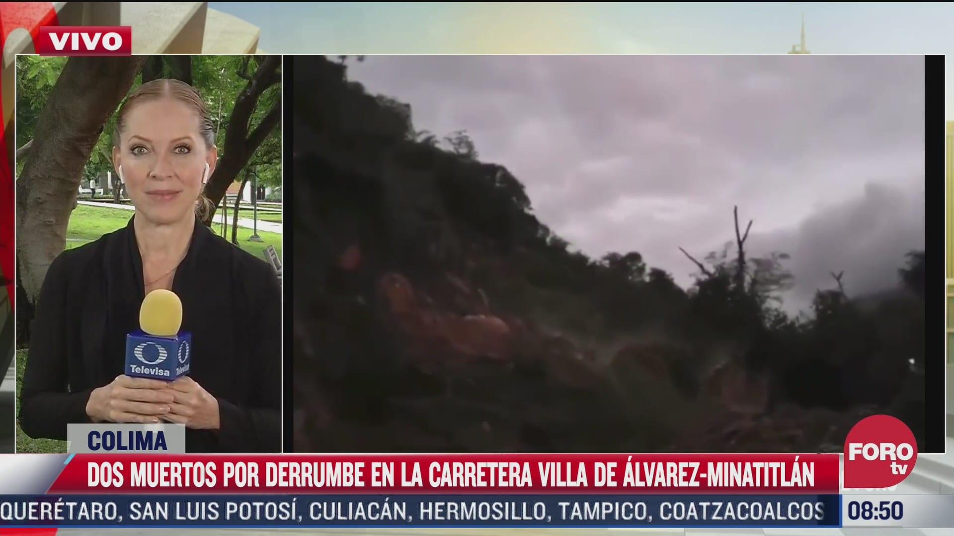 50 mil metros cubicos de tierra se derrumbaron sobre carretera de colima