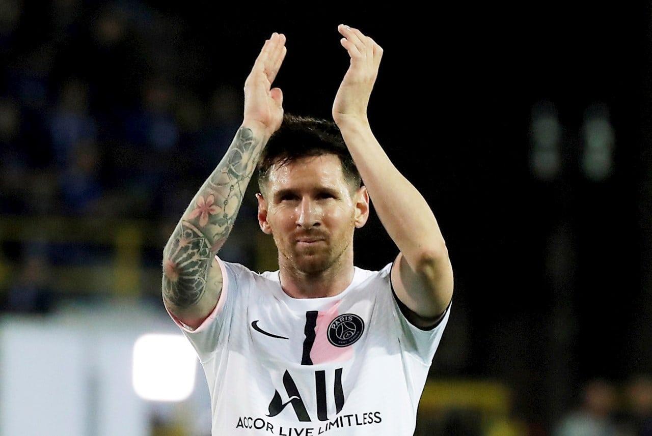 Messi durante un partido del PSG