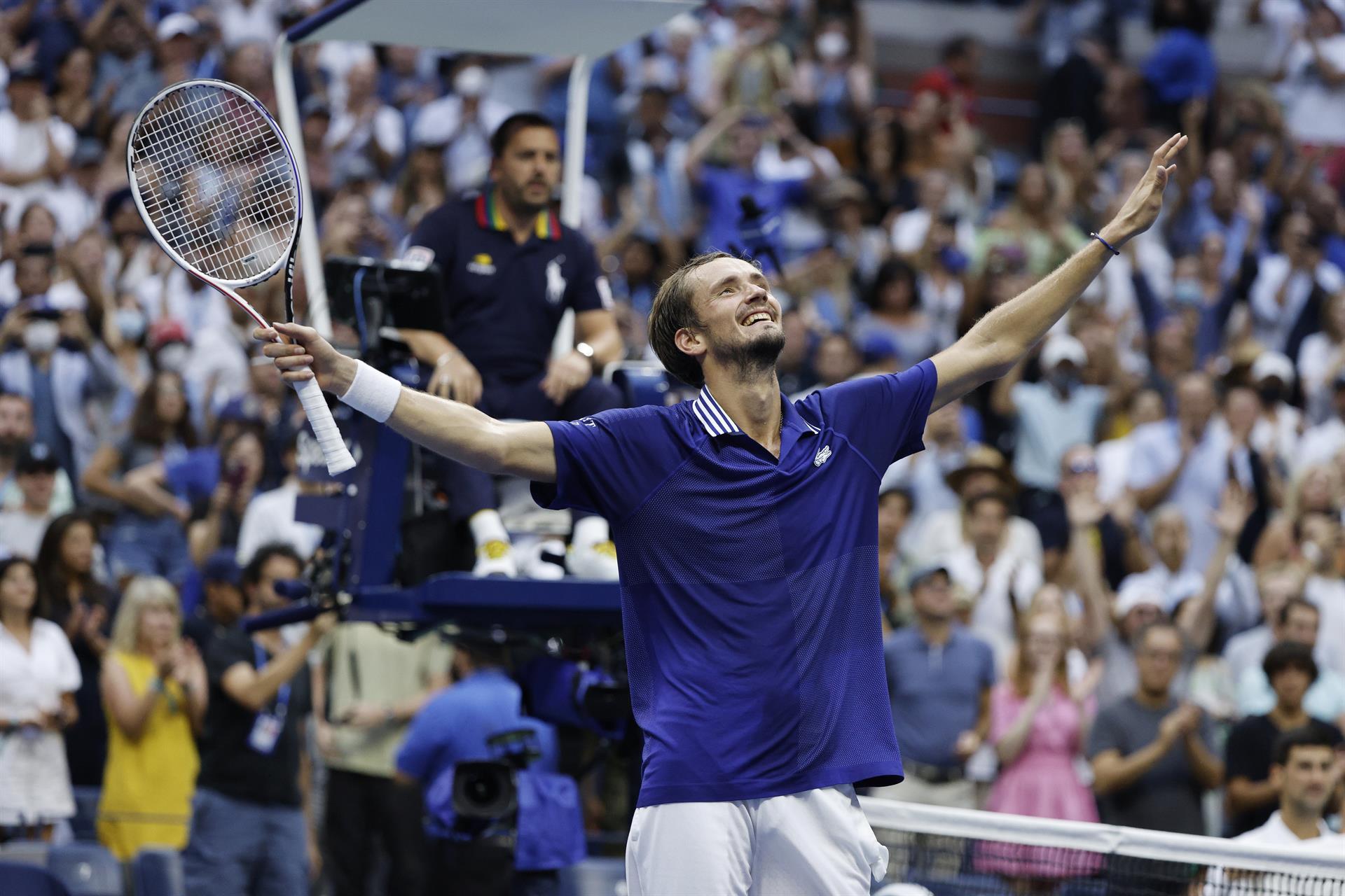 El tenista ruso Daniil Medvedev tras ganar la final del Abierto de Estados Unidos (EFE)