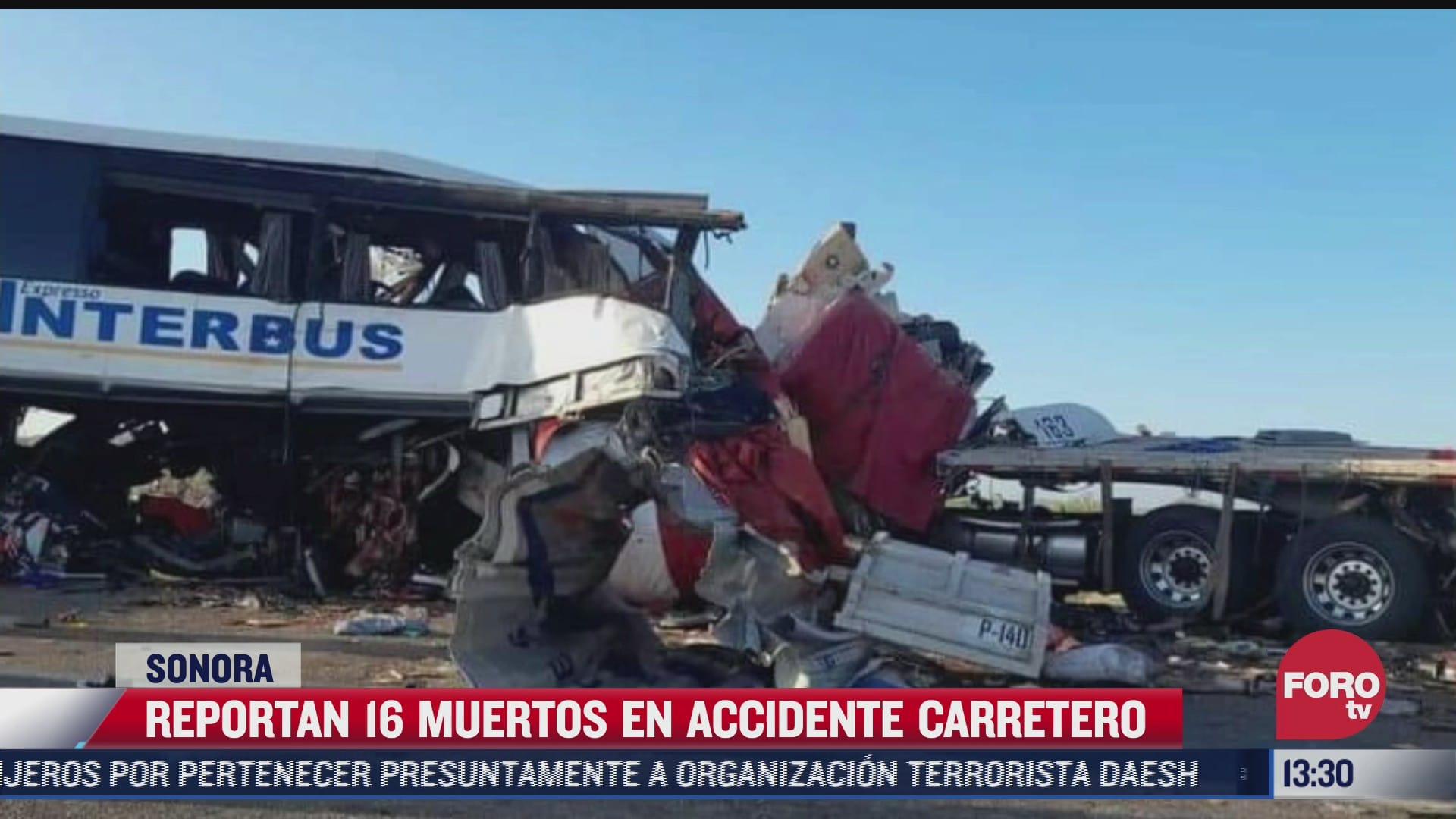 accidente en carretera de sonora deja 16 muertos y 22 heridos