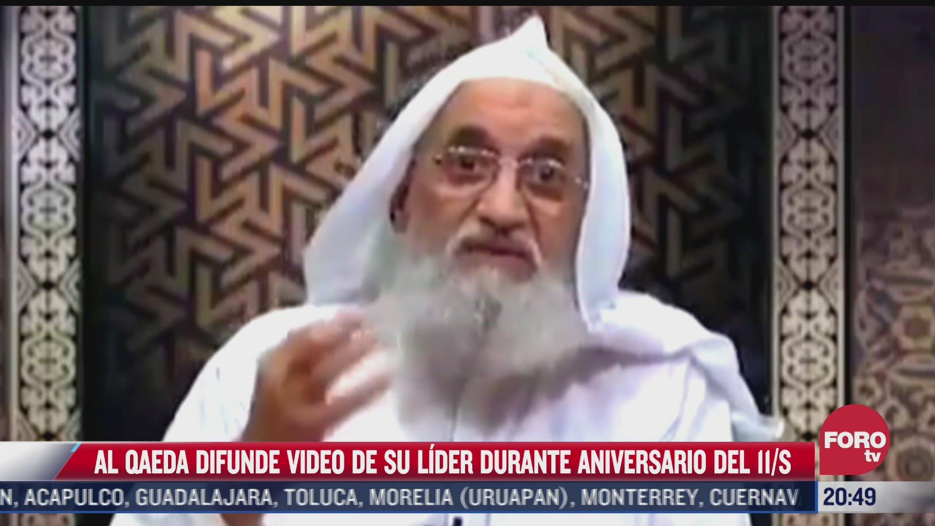al qaeda difunde video de su lider durante aniversario del 11 s