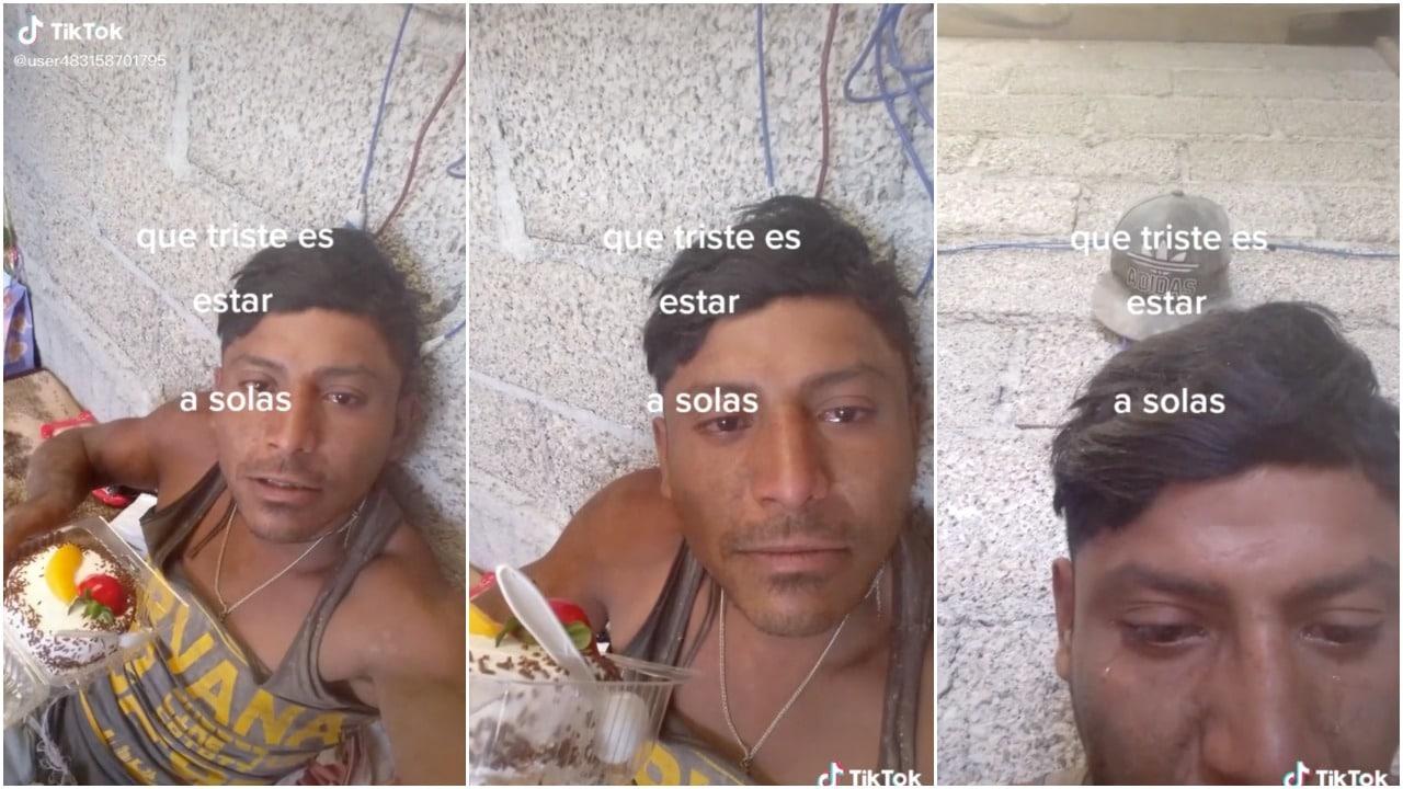 Albañil Llora Cumpleaños Solo TikTok Viral