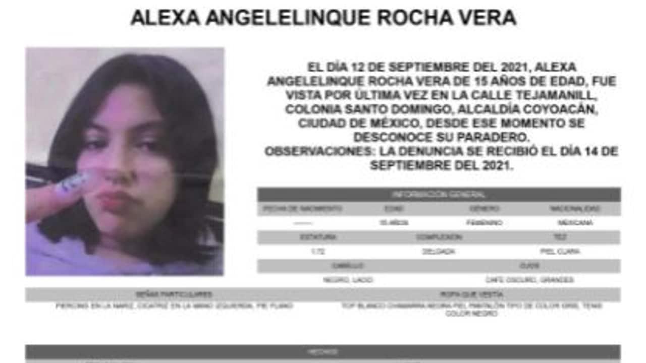 Activan Alerta Amber para localizar a Alexa Angelelinque Rocha Vera.
