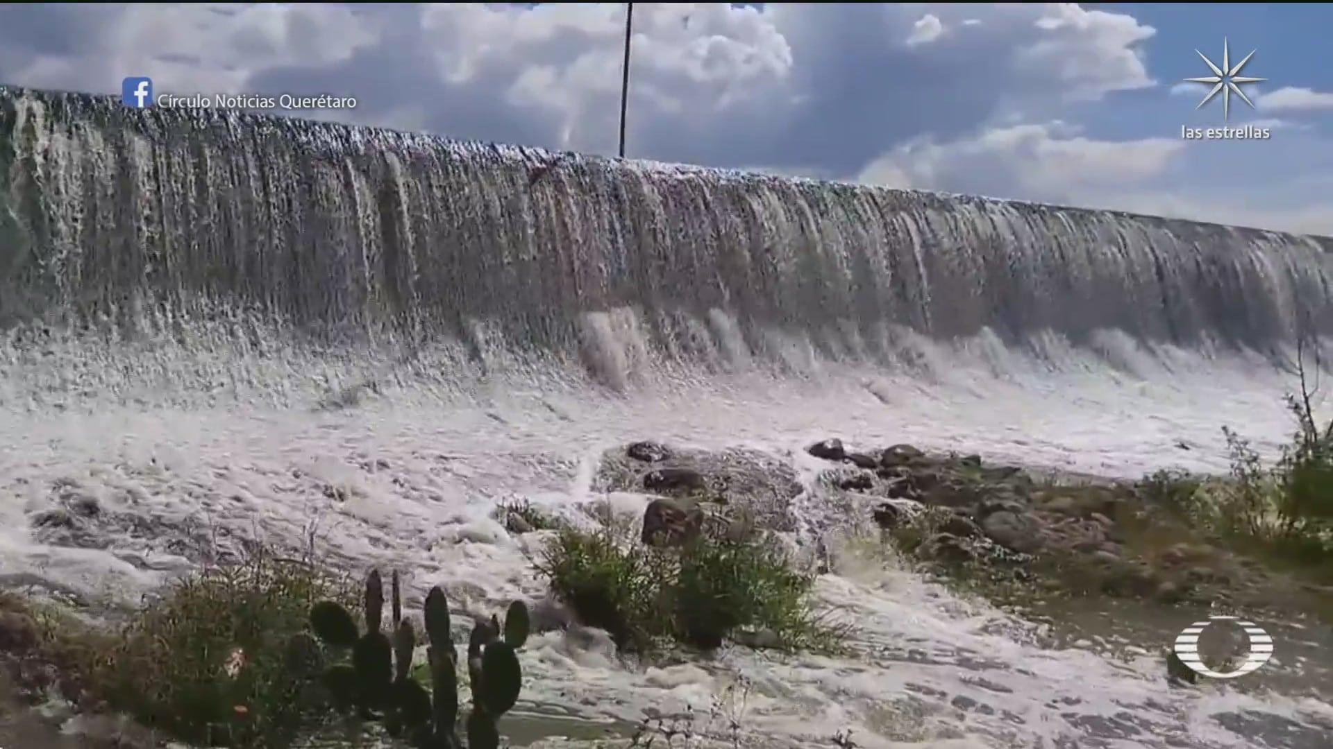 alertan a queretaro hidalgo slp y veracruz por desfogue de la presa zimapan