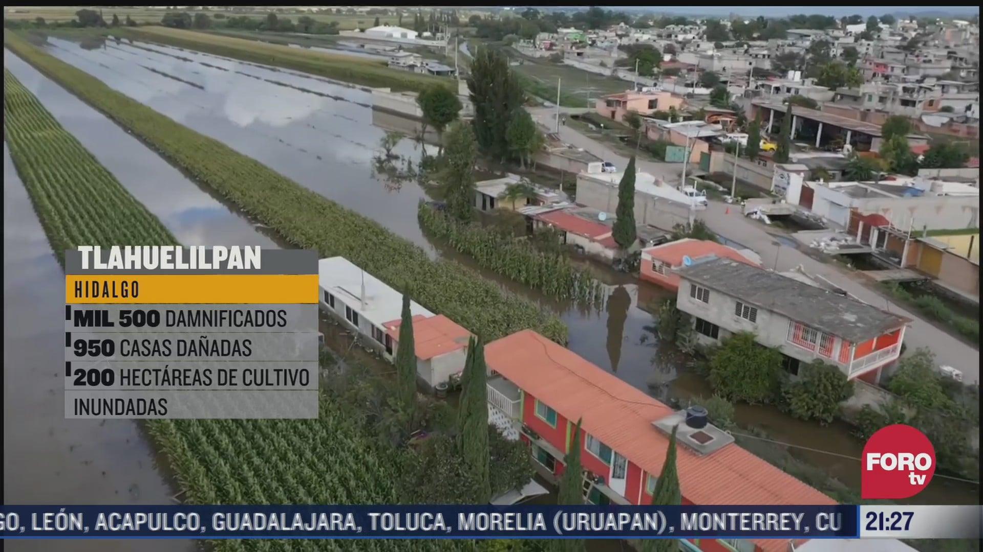 alertan por posible nuevo desbordamiento en tlahuelilpan