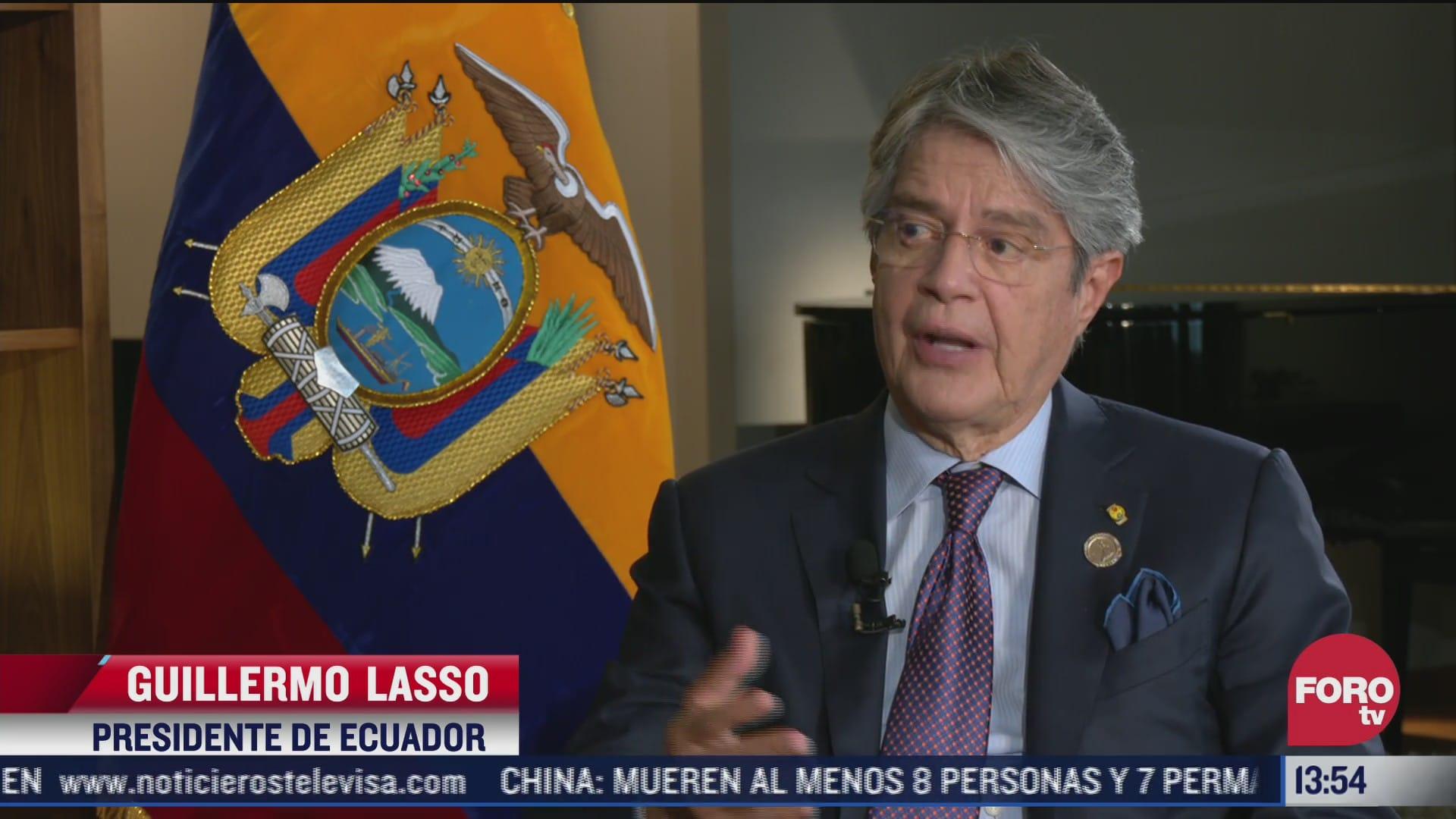 aliviar pobreza disminuira migracion presidente de ecuador