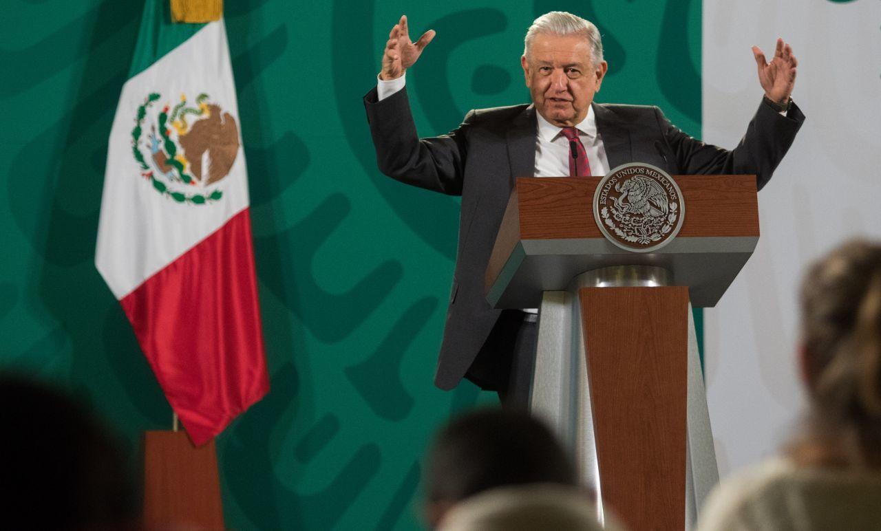 El presidente Andrés Manuel López Obrador, en la conferencia mañanera.