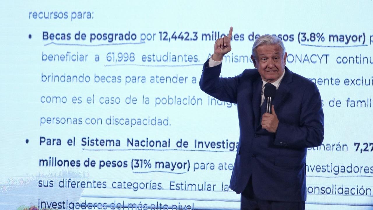 Andrés Manuel López Obrador, presidente de México durante la conferencia matutina en Palacio Nacional
