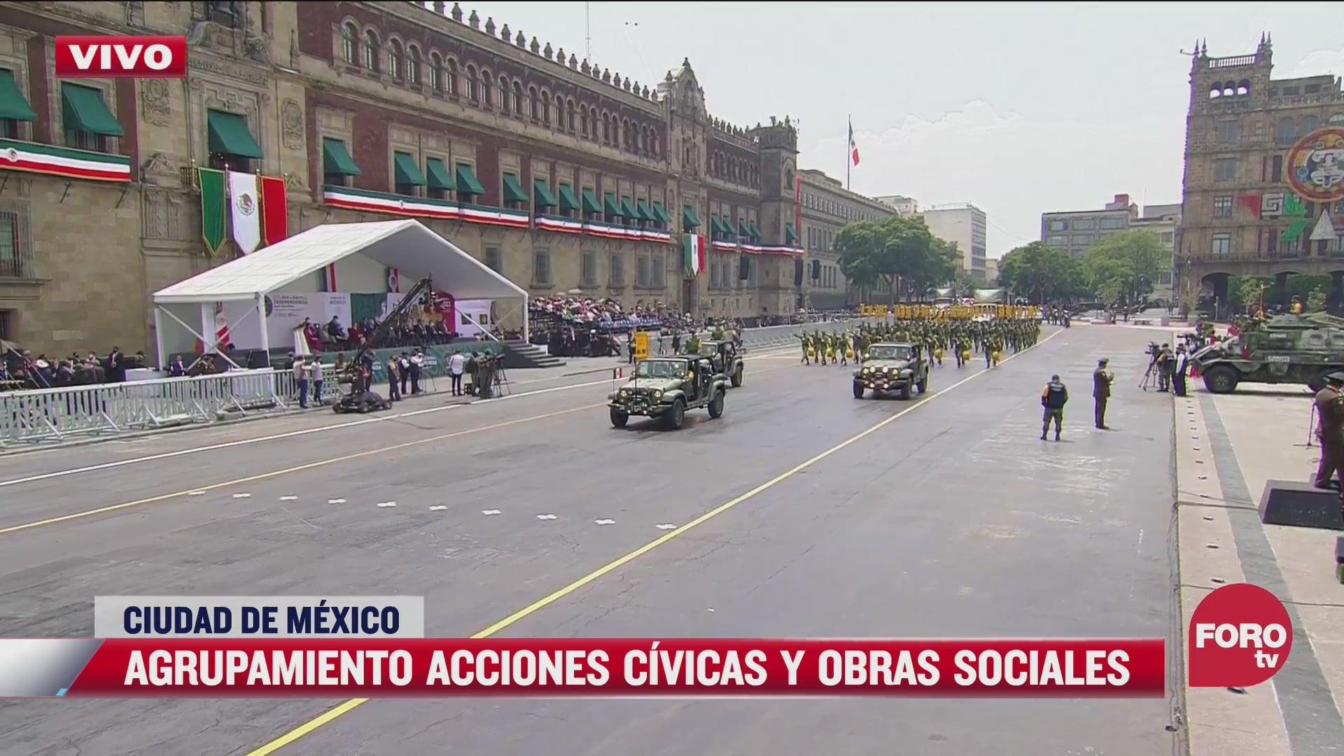amlo encabeza desfile civico militar del 16 de septiembre de 2021 parte