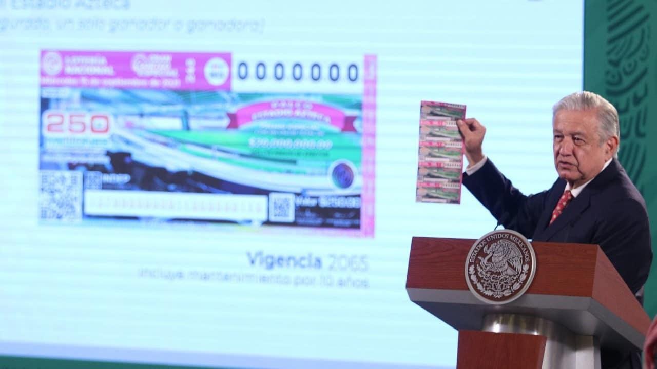AMLO invita a participar en sorteo de la Lotería Nacional