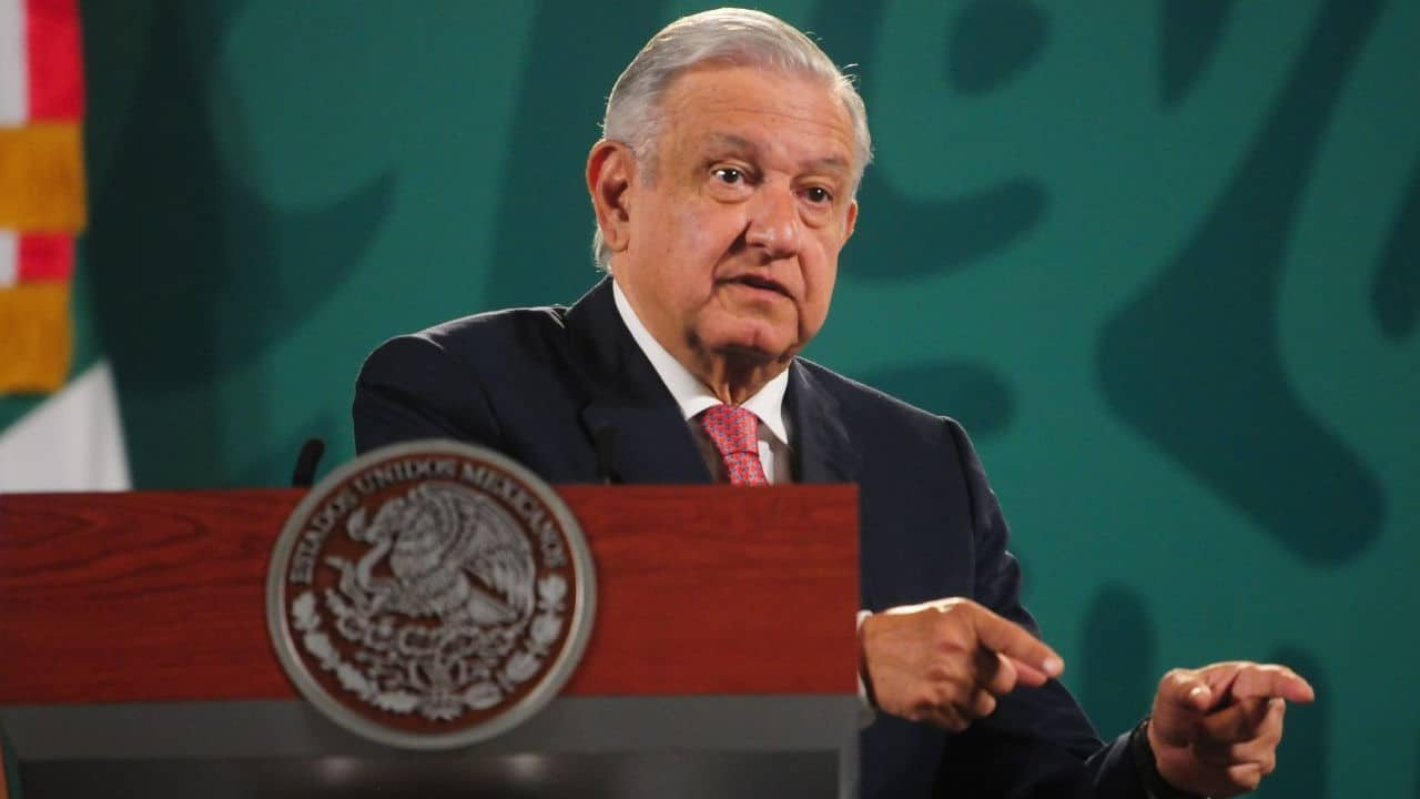 Andrés Manuel López Obrador, presidente de México, durante la conferencia mañanera