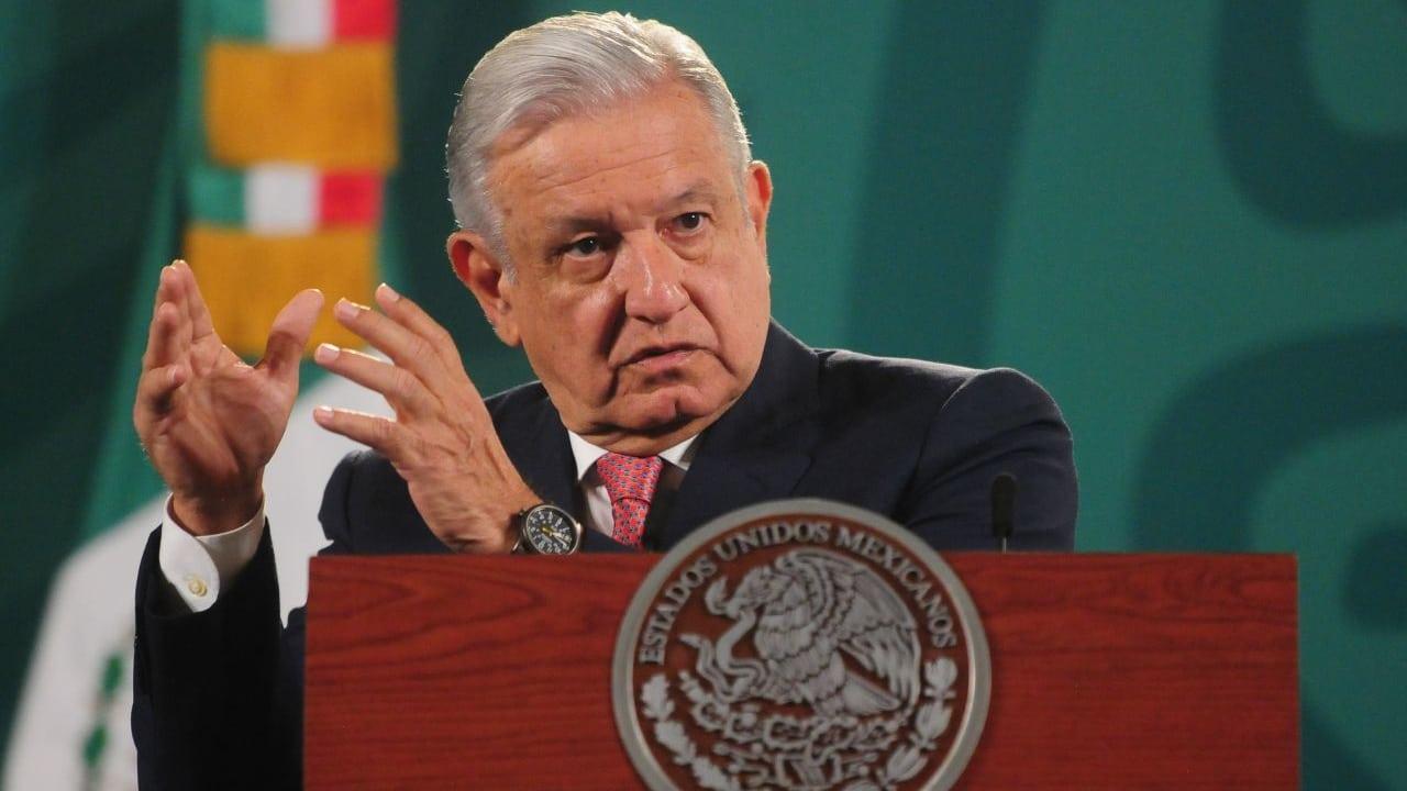 Andrés Manuel López Obrador, presidente de México, durante la conferencia mañanera.