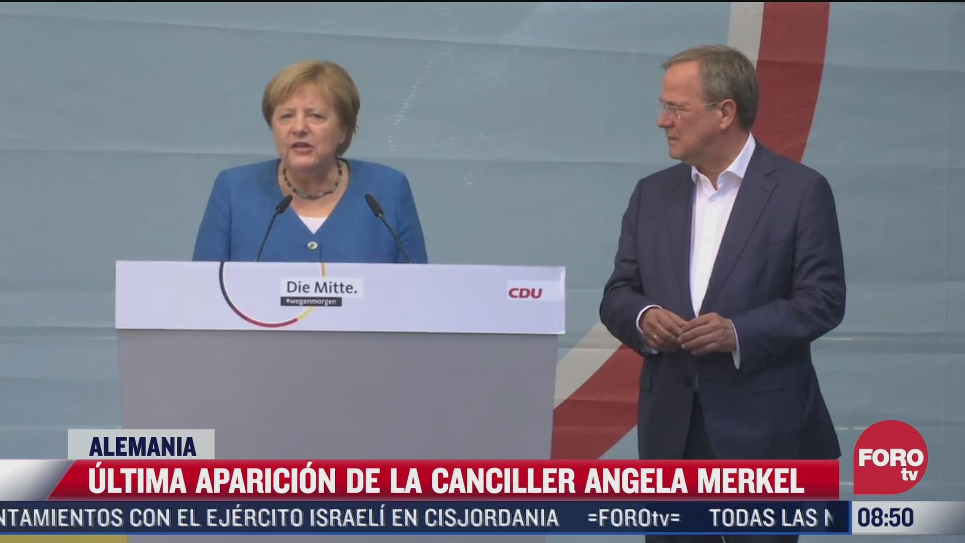 angela merkel realiza su ultima aparicion antes de las elecciones federales en alemania