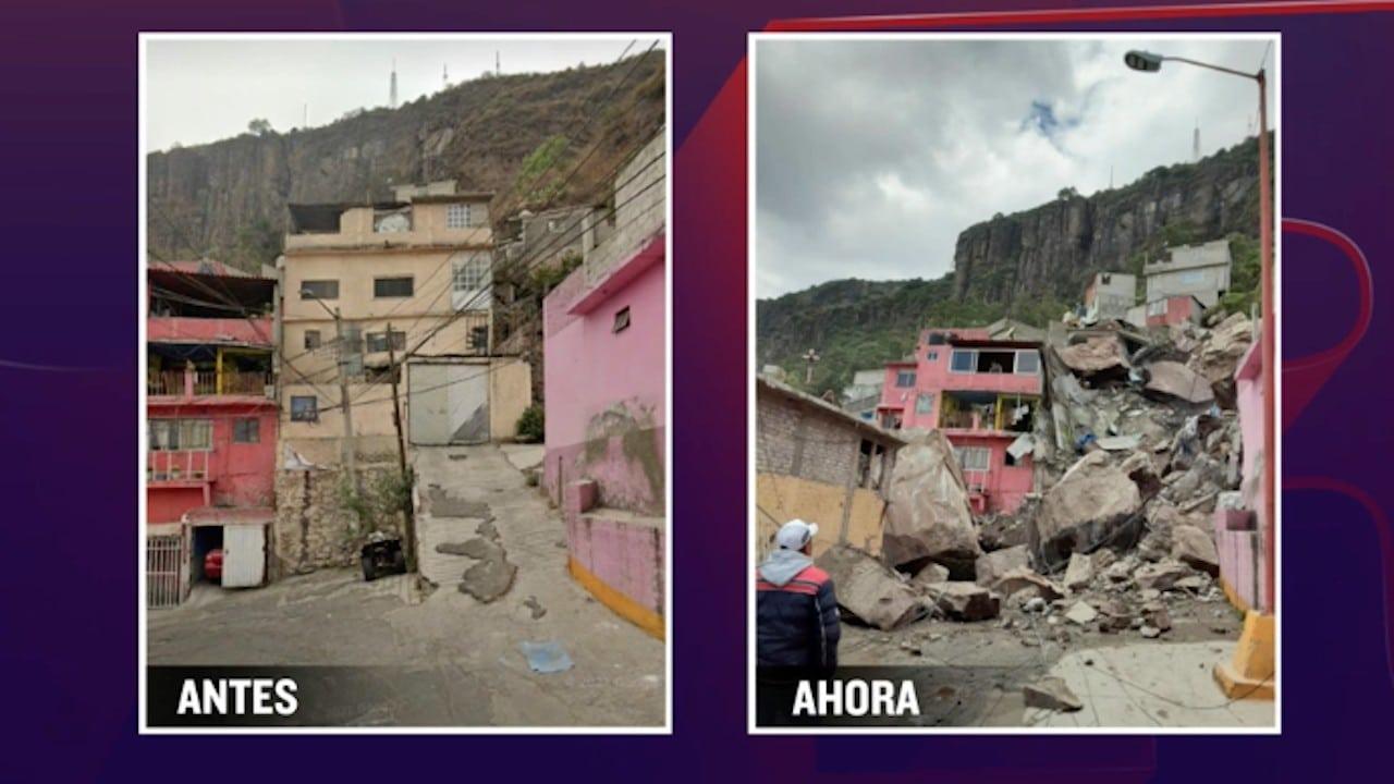 Vivienda en Lázaro Cárdenas Segunda Sección a las faldas del Cerro del Chiquihuite (FOROtv)