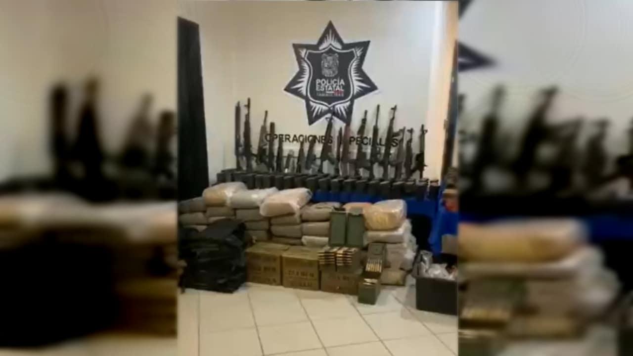 Aseguran arsenal y marihuana durante operativos realizados en Tamaulipas