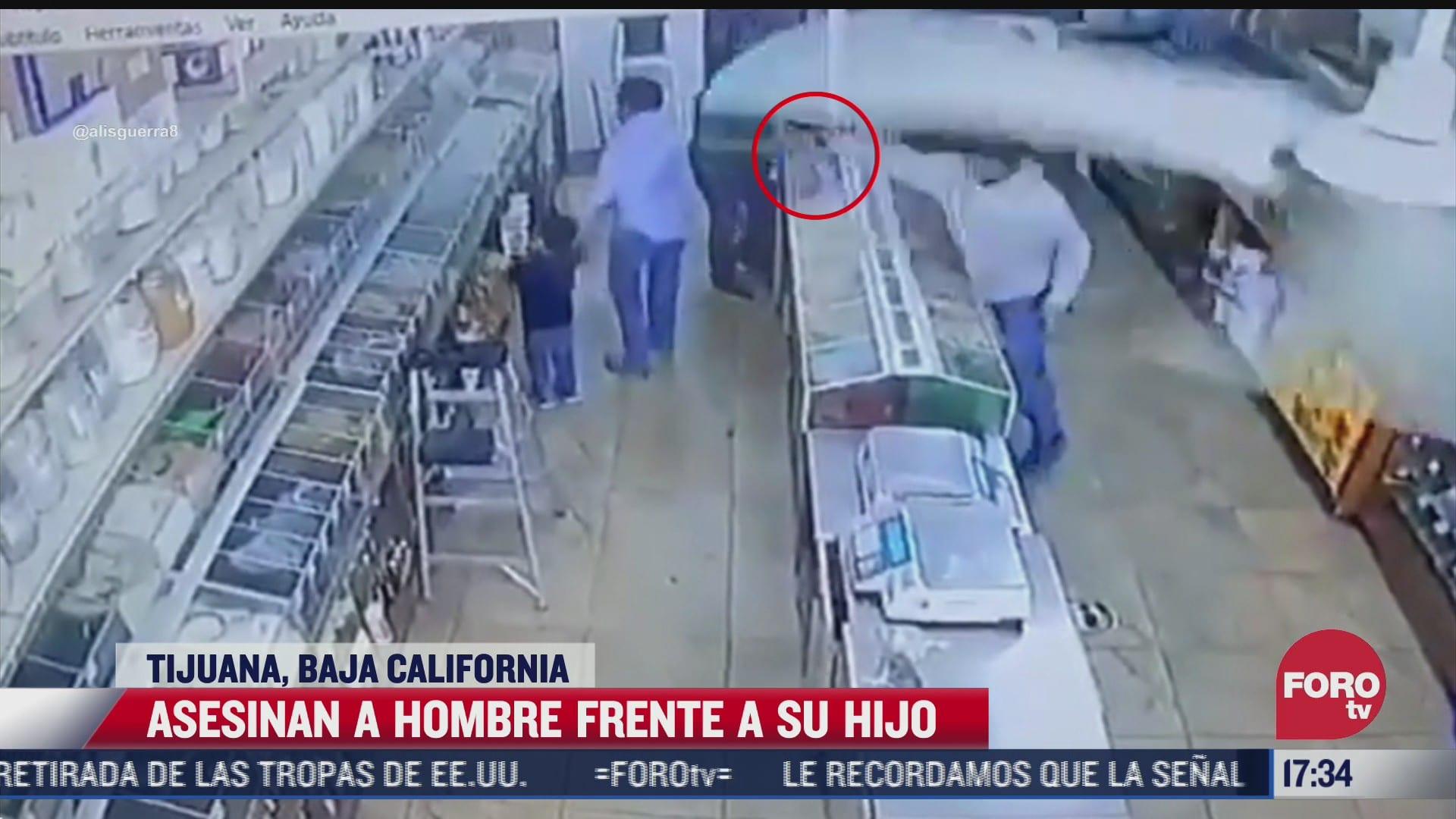 asesinan a hombre frente a su hijo en tijuana