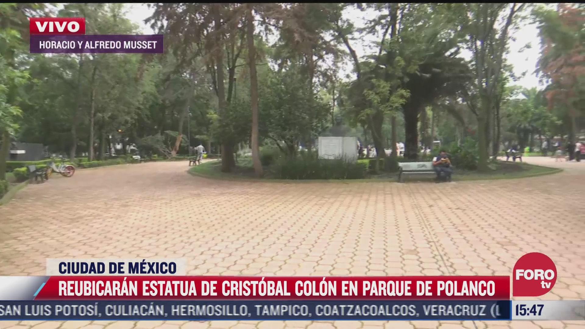 asi luce en la actualidad el parque donde instalaran estatua de cristobal colon