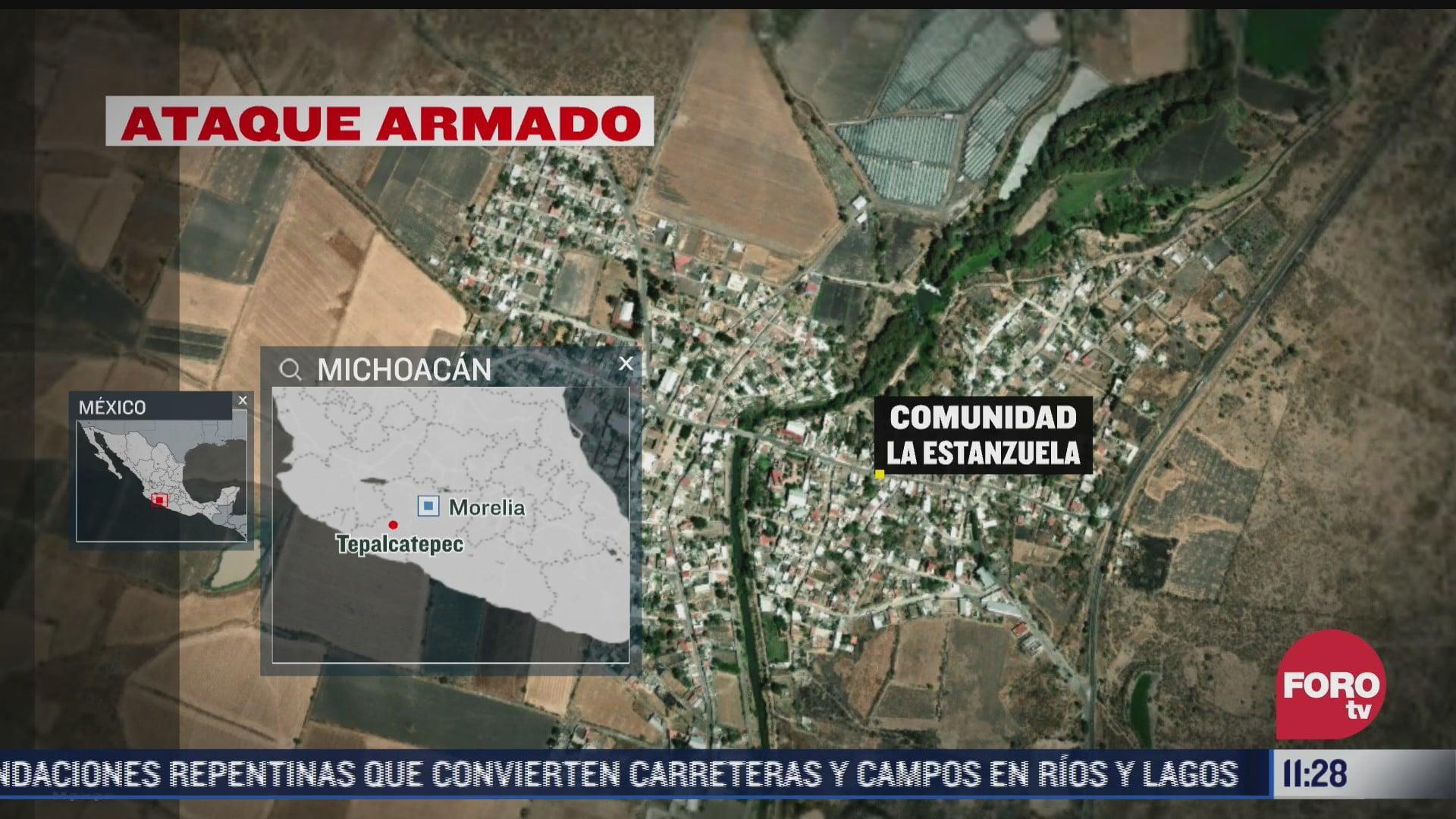 ataque armado deja dos lesionados en tepalcatepec michoacan