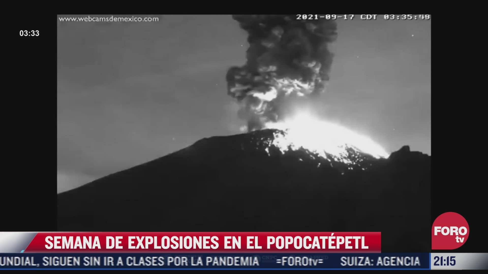 aumenta actividad del volcan popocatepetl en septiembre