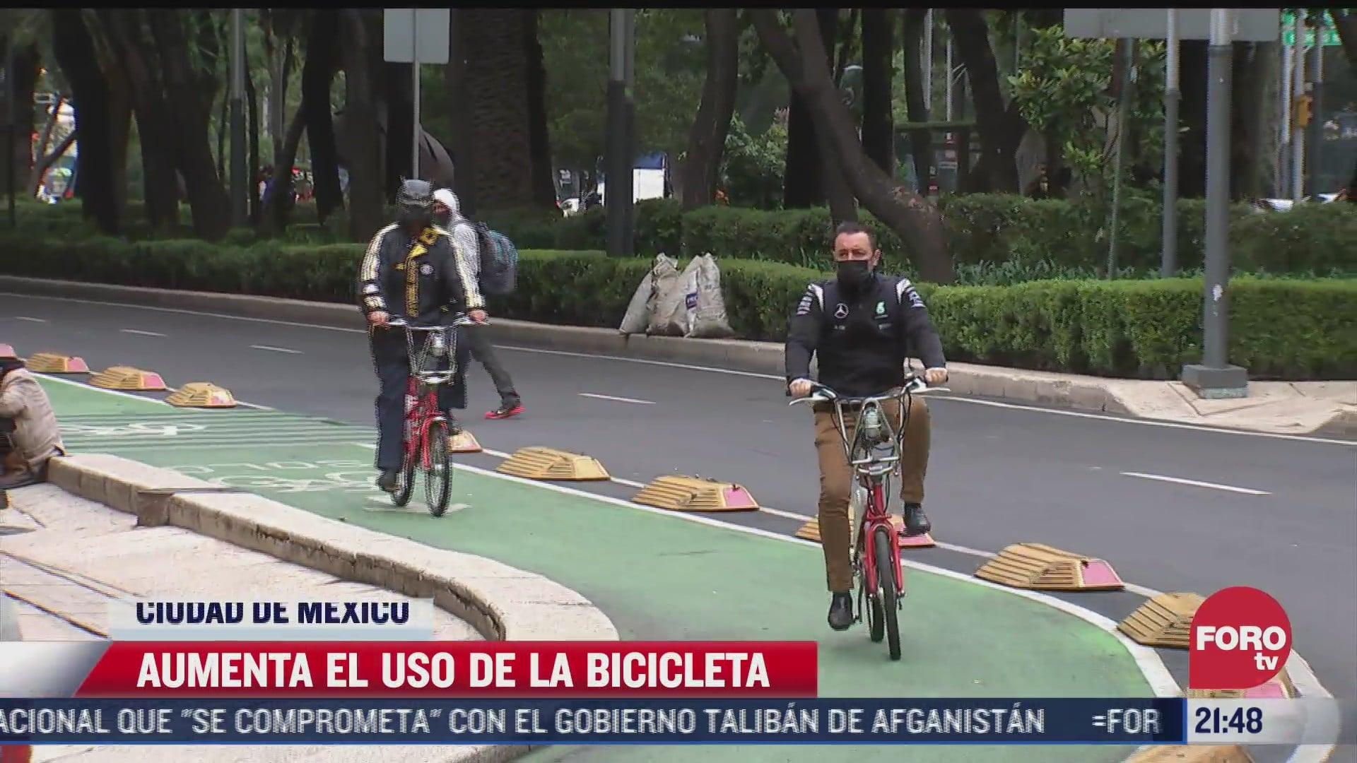 aumenta uso de la bicicleta por pandemia en cdmx