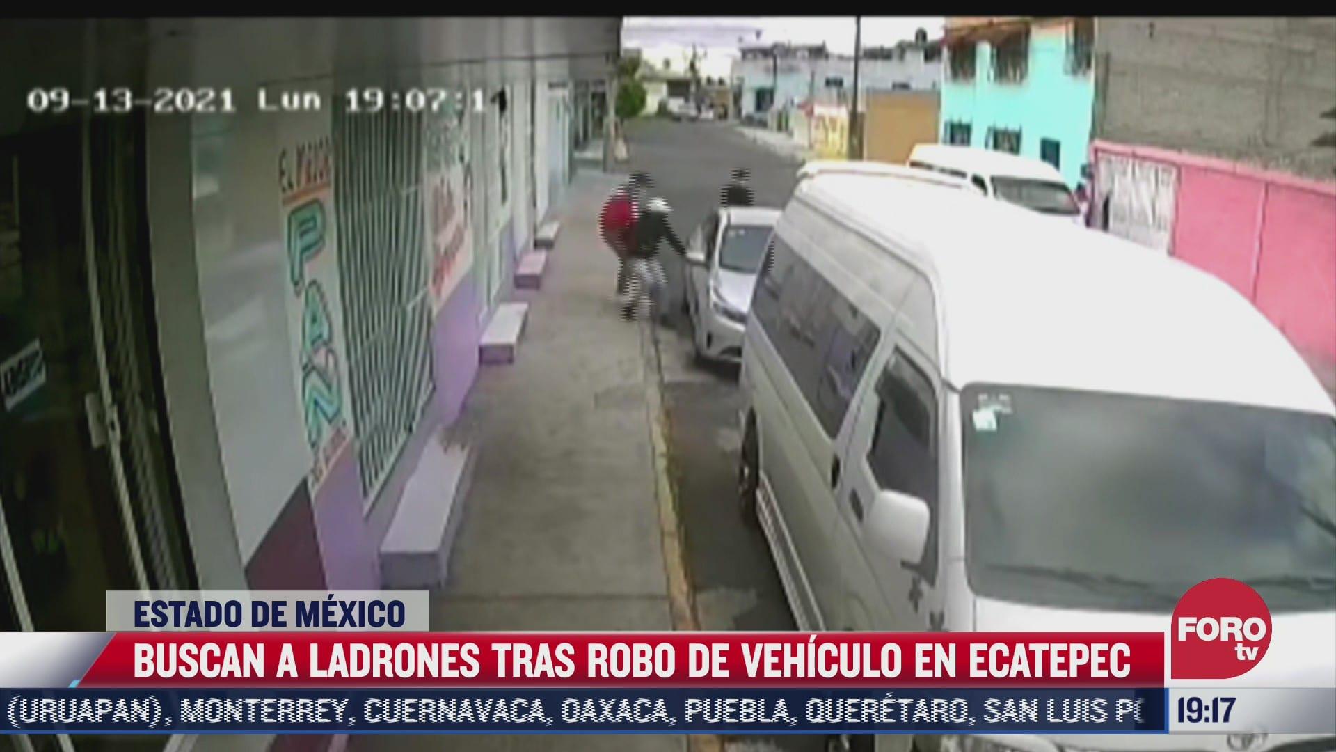 autoridades del edomex buscan a tres por robo de vehiculo en ecatepec
