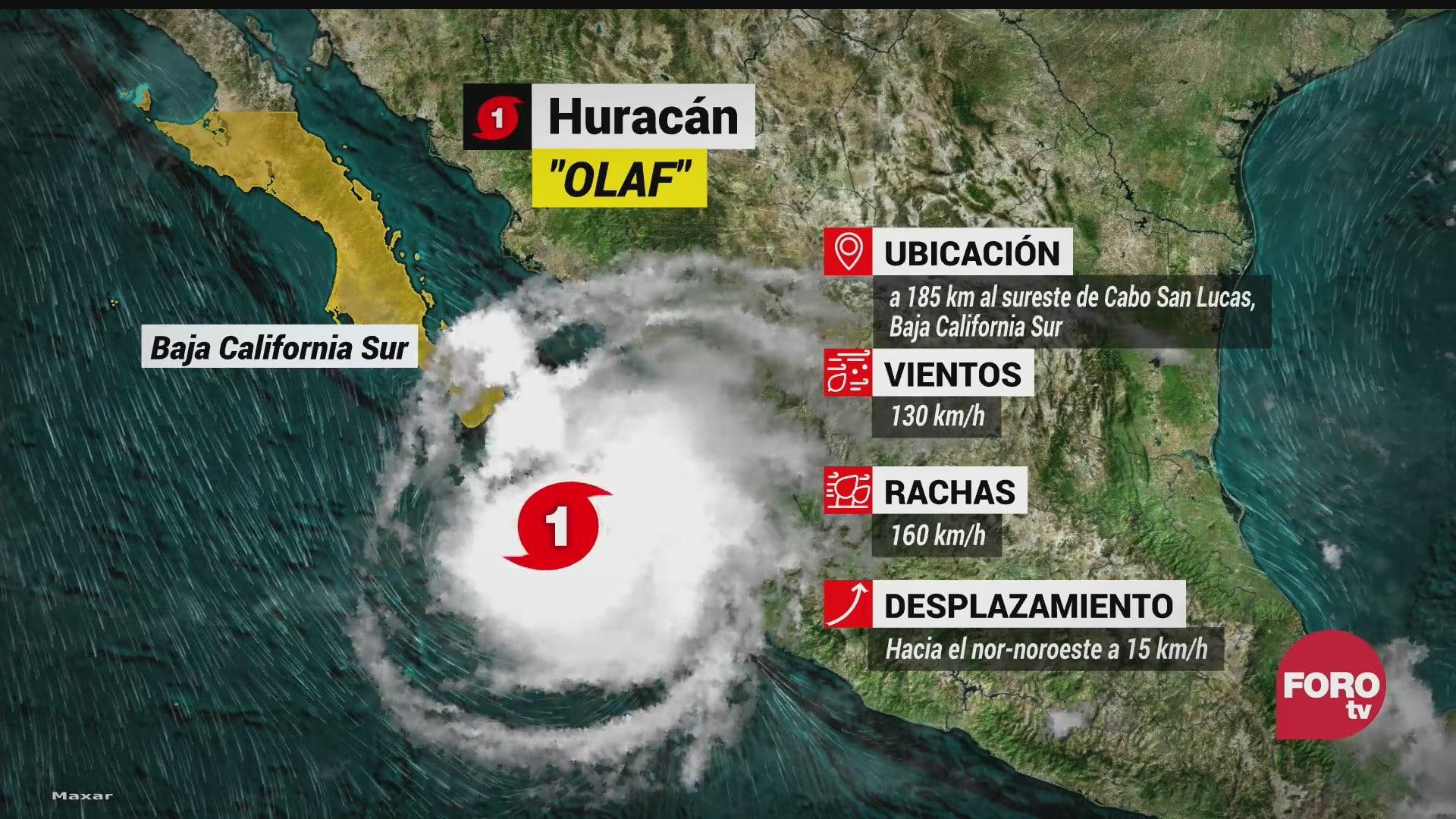 baja california sur registra primeros efectos por huracan olaf