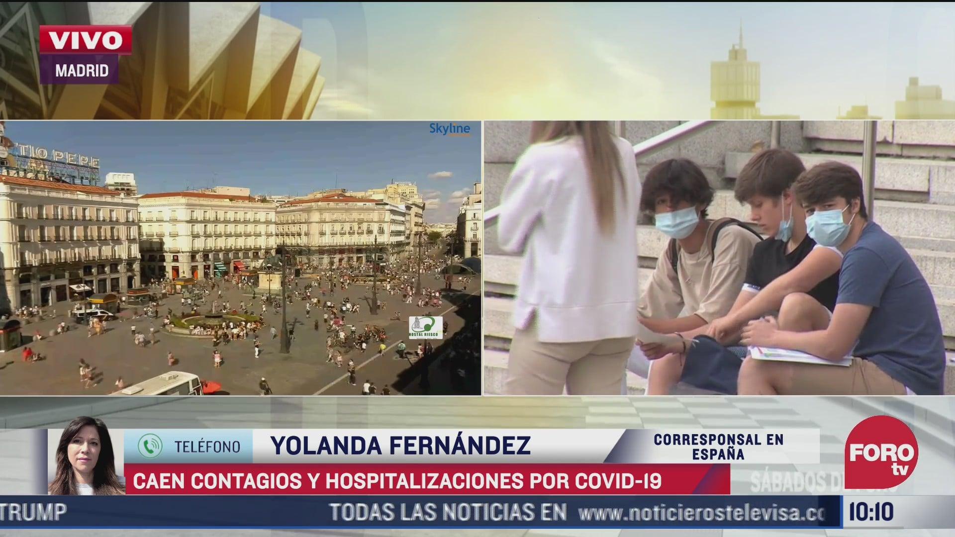 caen contagios y hospitalizaciones por covid en espana