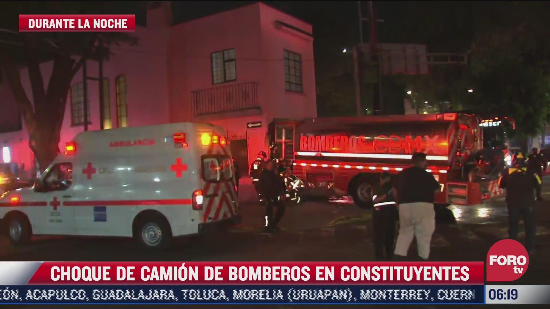 camion de bomberos termina en una casa tras ser impactado por trailer en cdmx