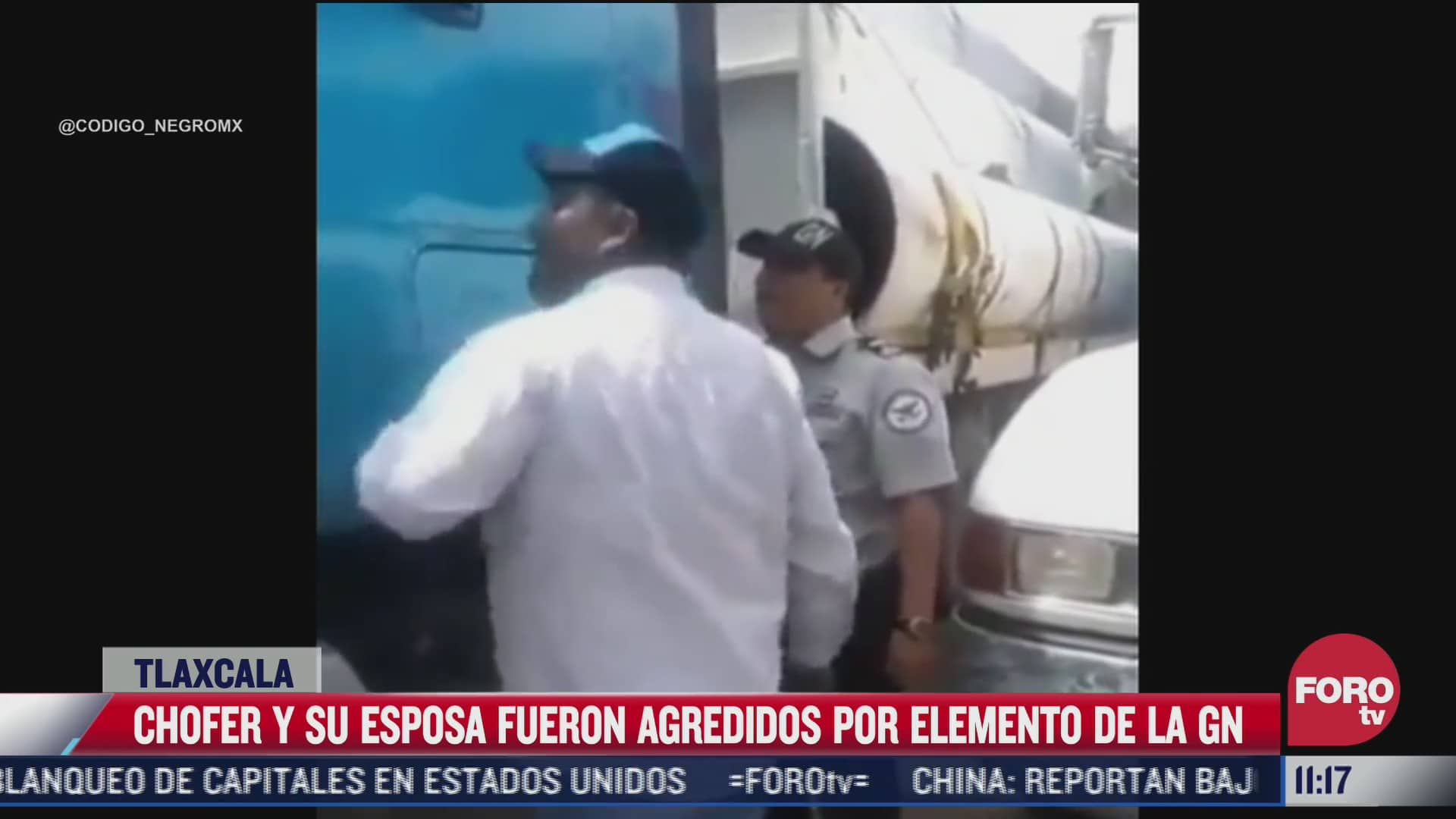captan a elemento de la guardia nacional peleando con chofer de trailer tras supuesta extorsion