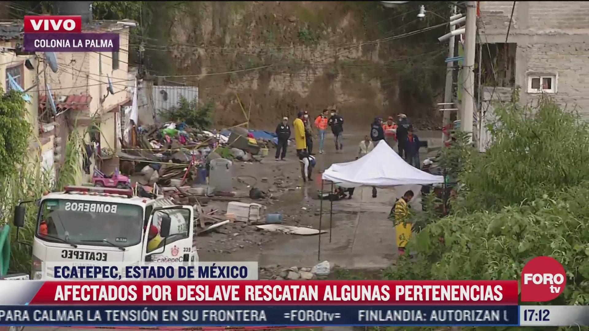 cerca de 100 viviendas esta en riesgo por posible deslave en ecatepec