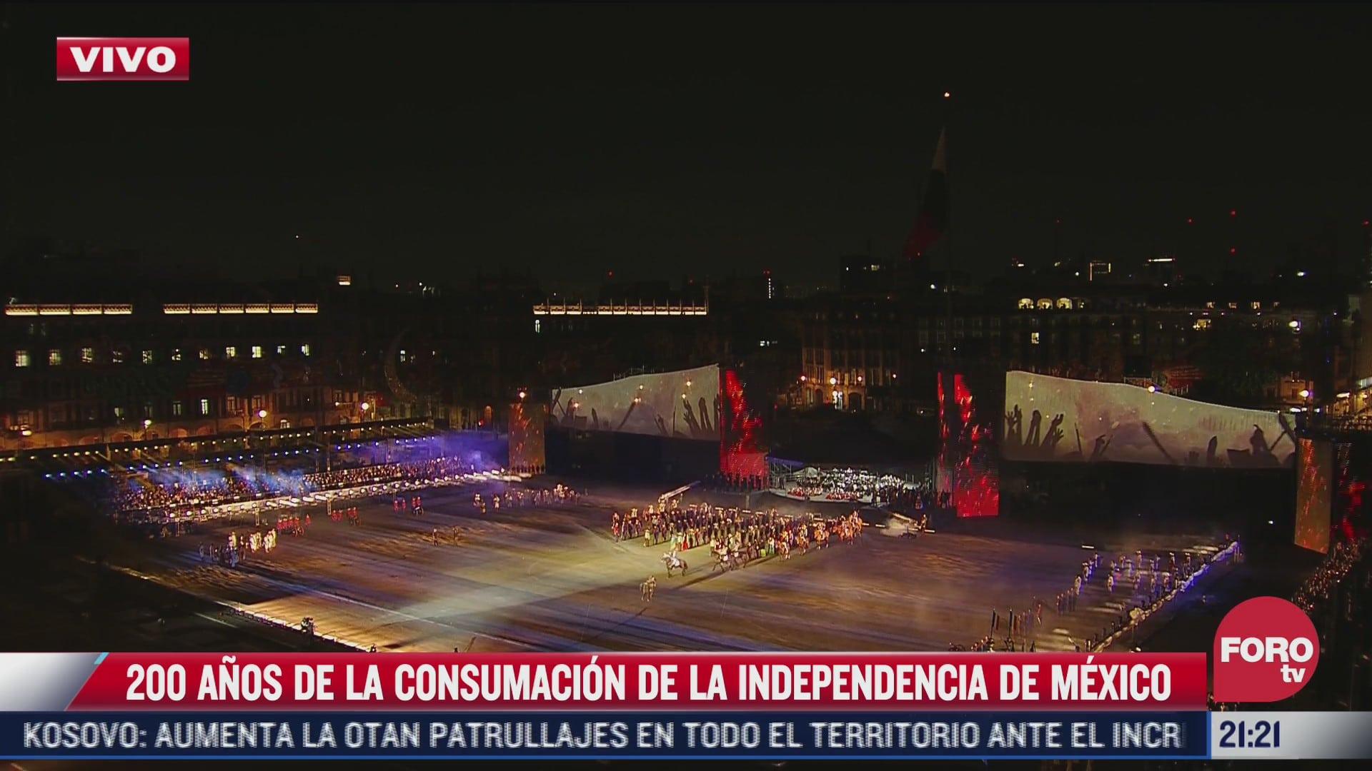 ceremonia por 200 ano de la consumacion de la independencia de mexico