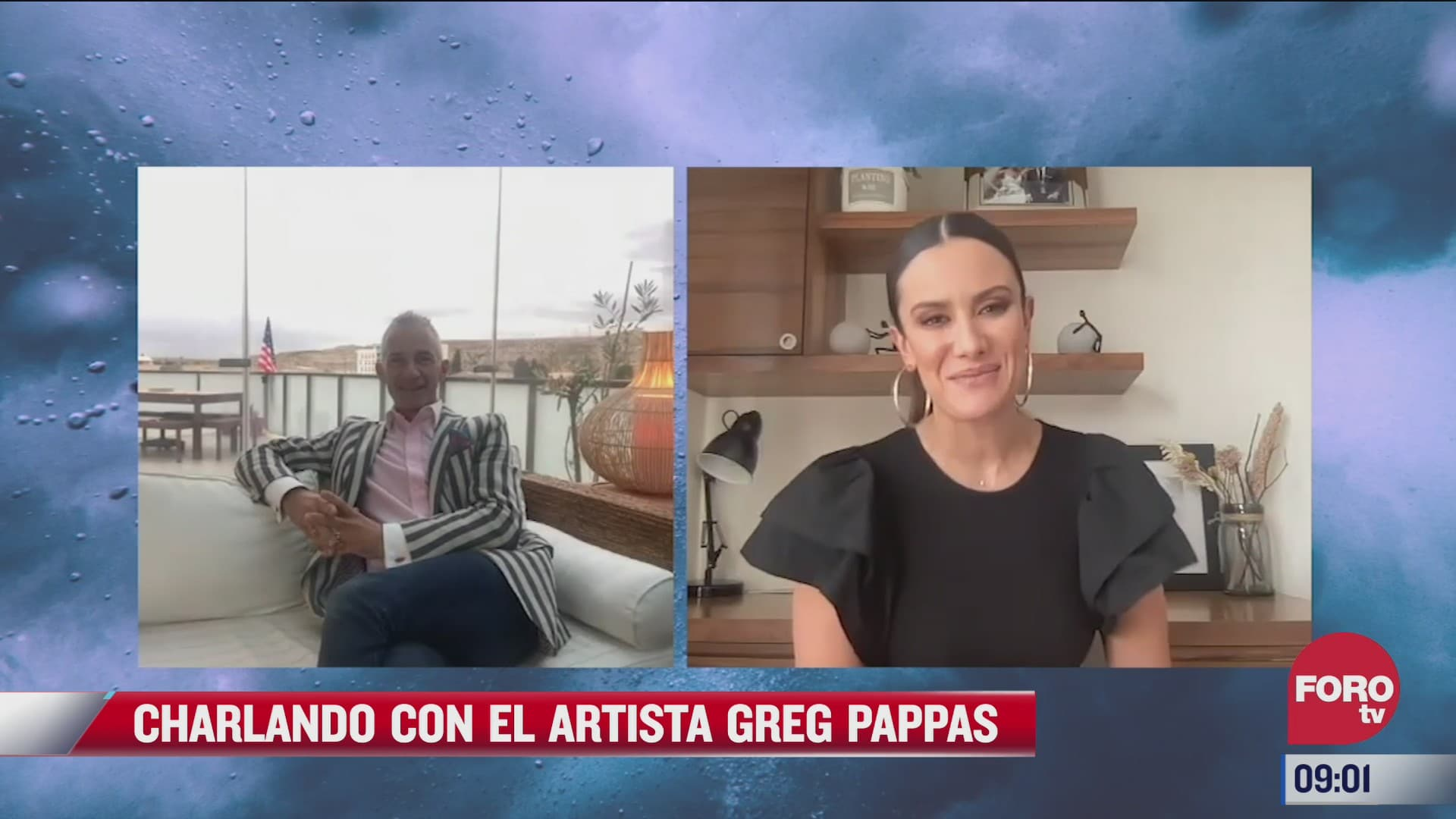 charlando con el artista greg pappas