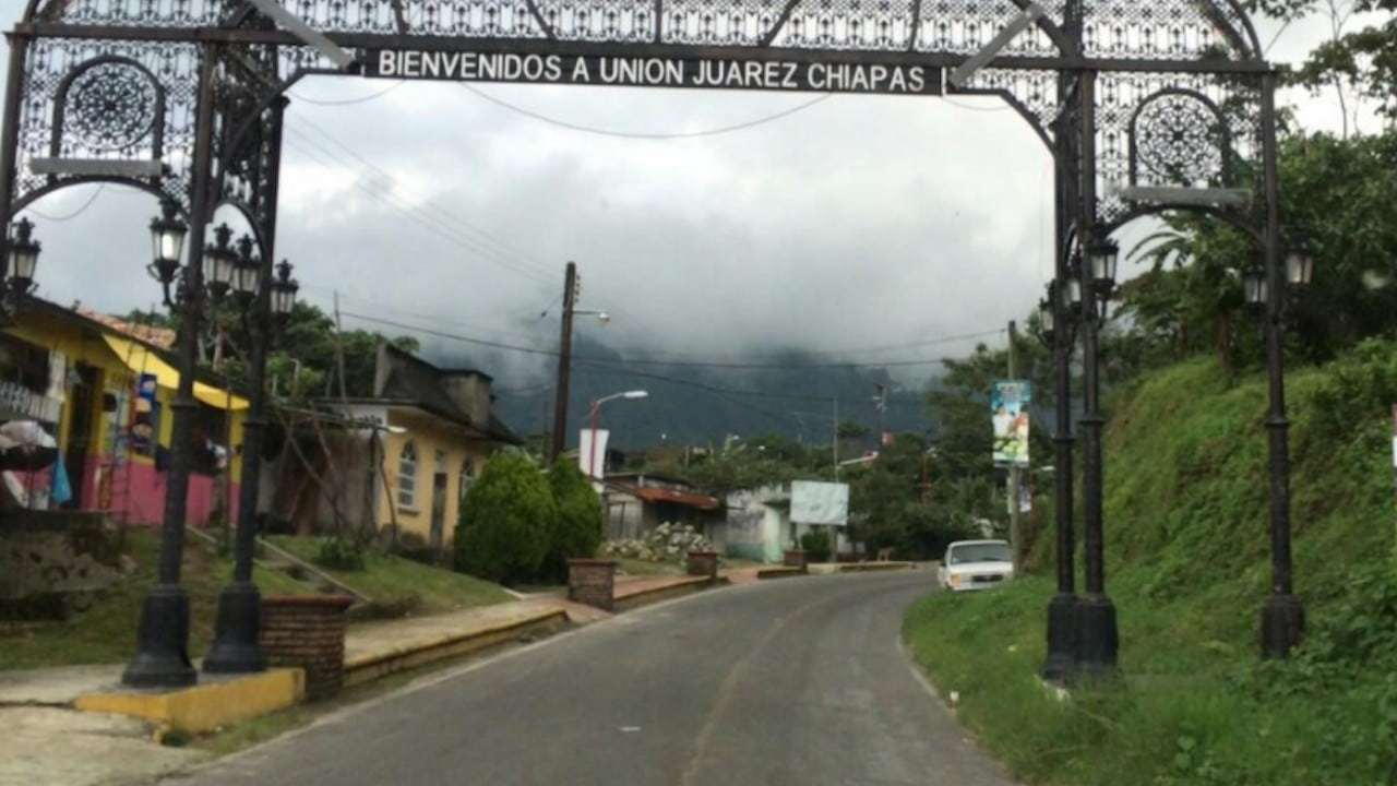 Inmediaciones del volcán Tacana, en Unión Juárez, Chiapas (Twitter: @ArturoMFarfan)