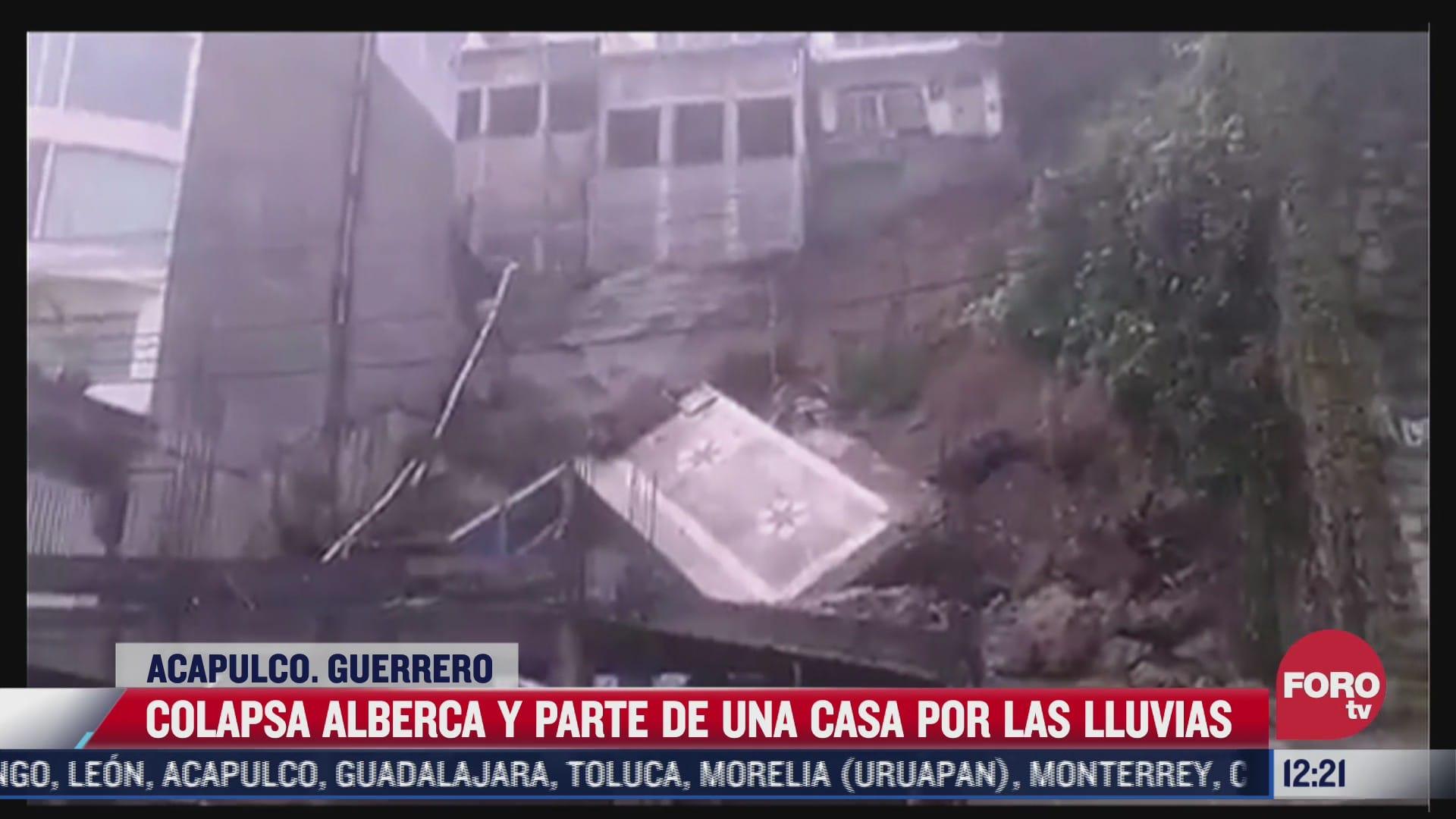 colapsa alberca de una casa tras fuerte lluvia en acapulco