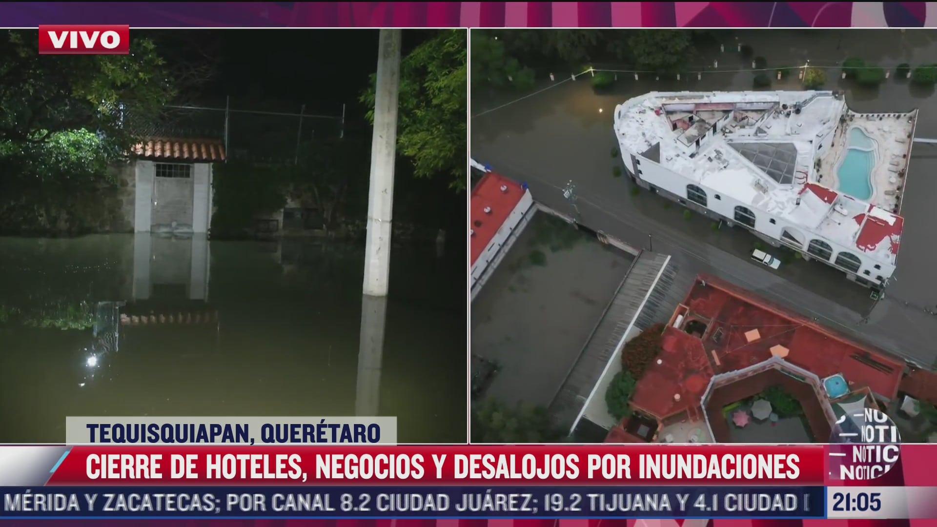 comerciantes de tequisquiapan sufren un nuevo cierre por inundaciones