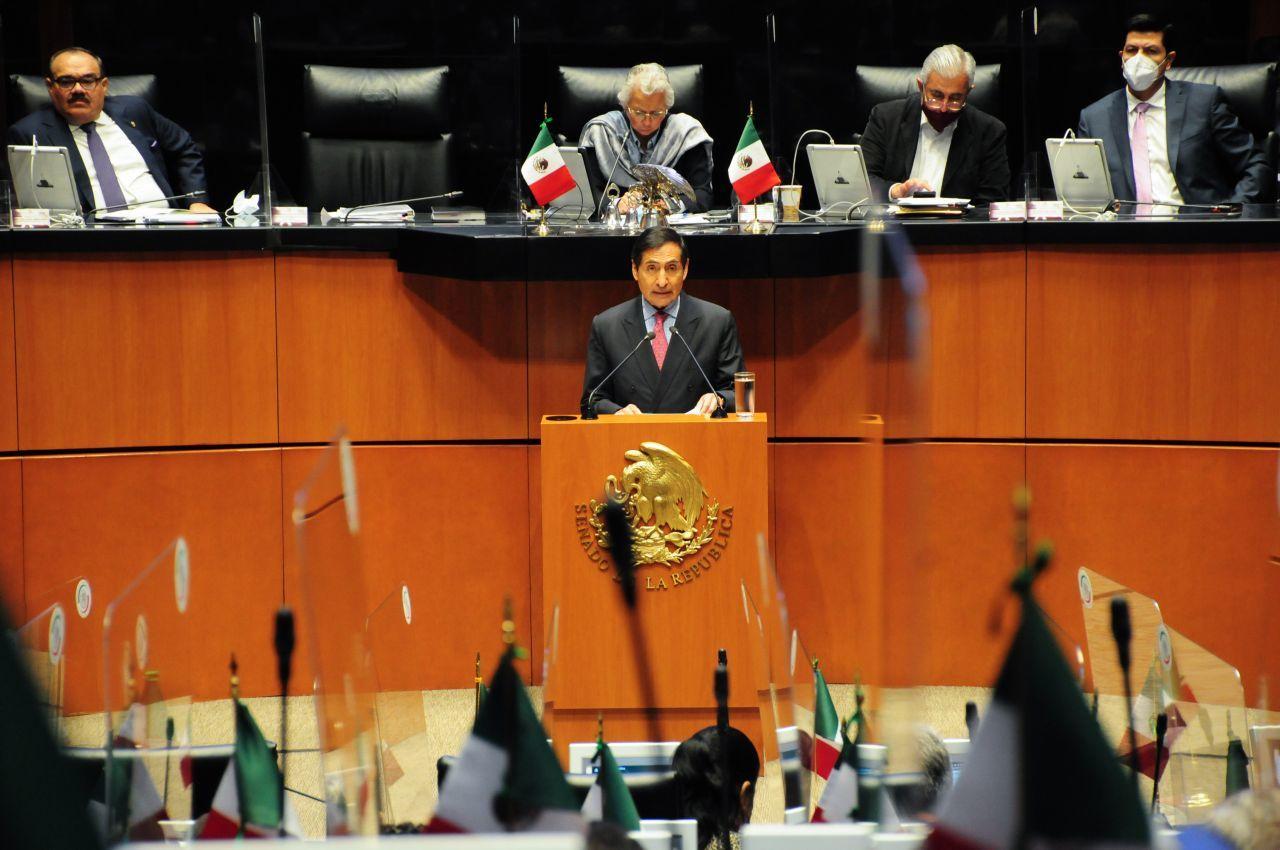 Rogelio Ramírez de la O, secretario de Hacienda, durante su comparecencia en el Senado (Cuartoscuro)
