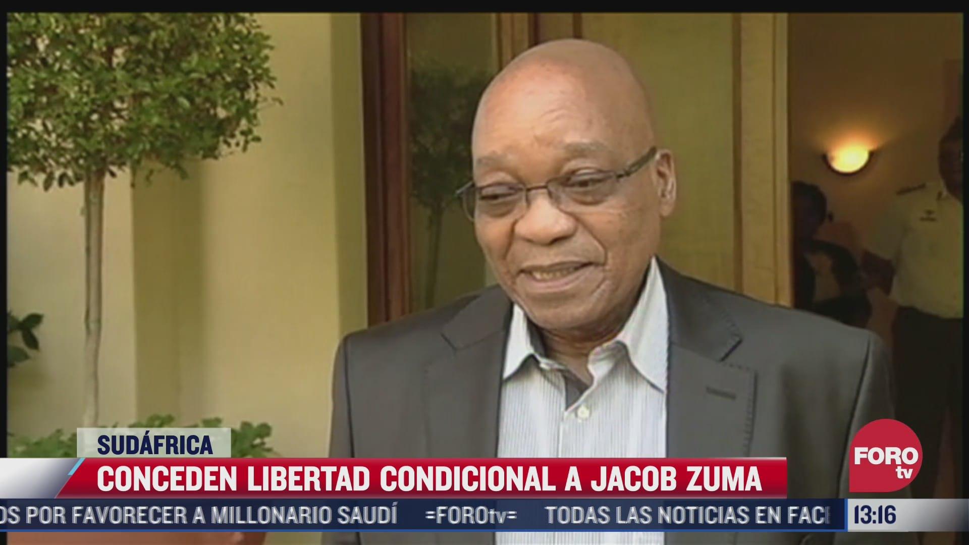 conceden libertad condicional a jacob zuma en sudafrica
