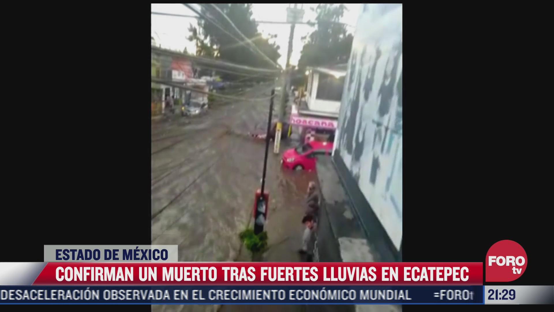 confirman un muerto tras las lluvias registradas en ecatepec