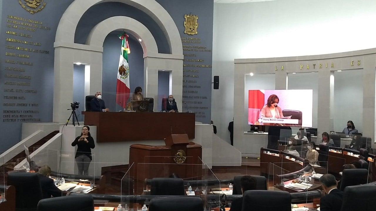 Sesión del Congreso de San Luis Potosí (Twitter: @CongresoEdoSLP)