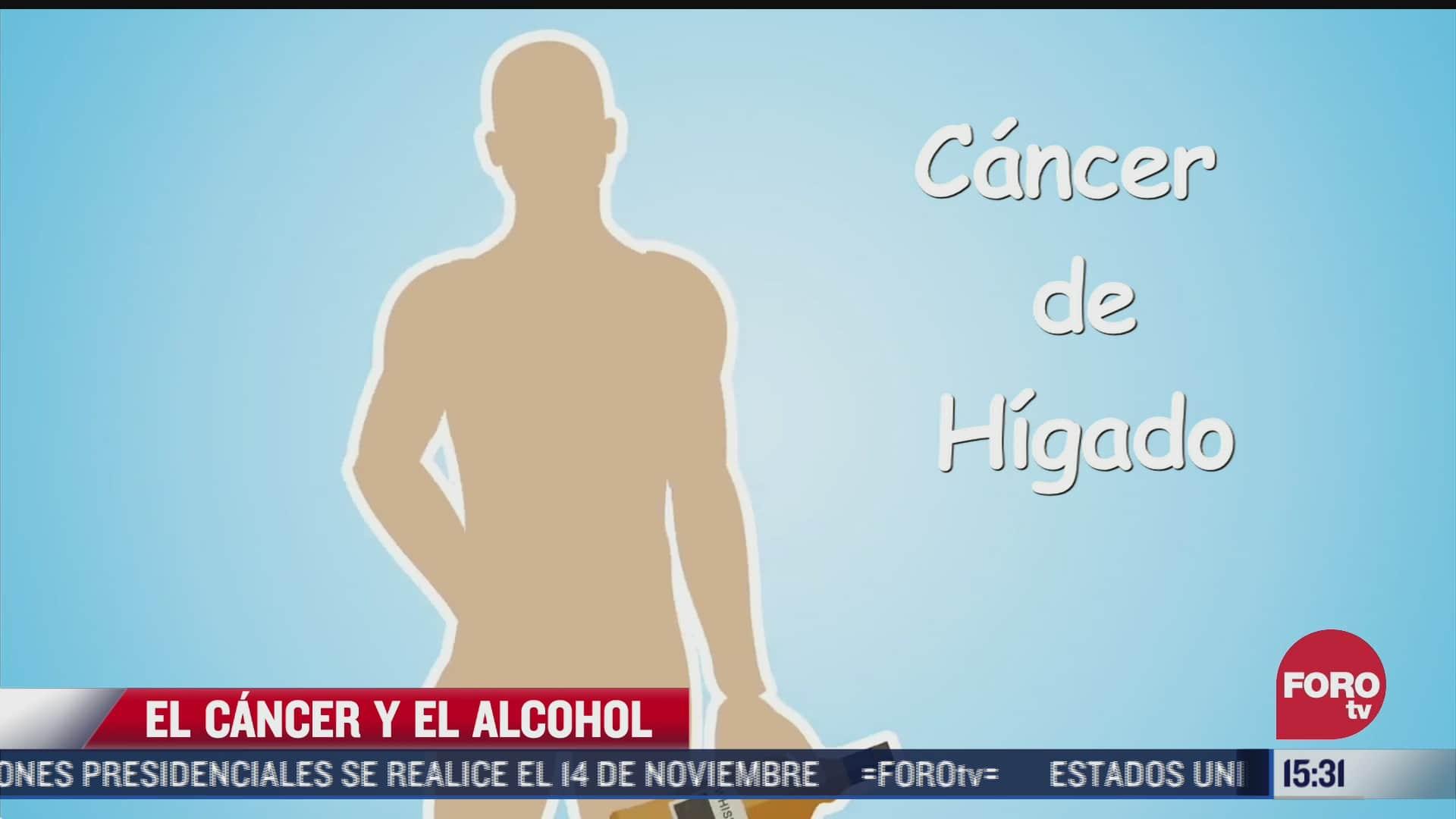 consumo elevado de alcohol puede ocasionar cancer