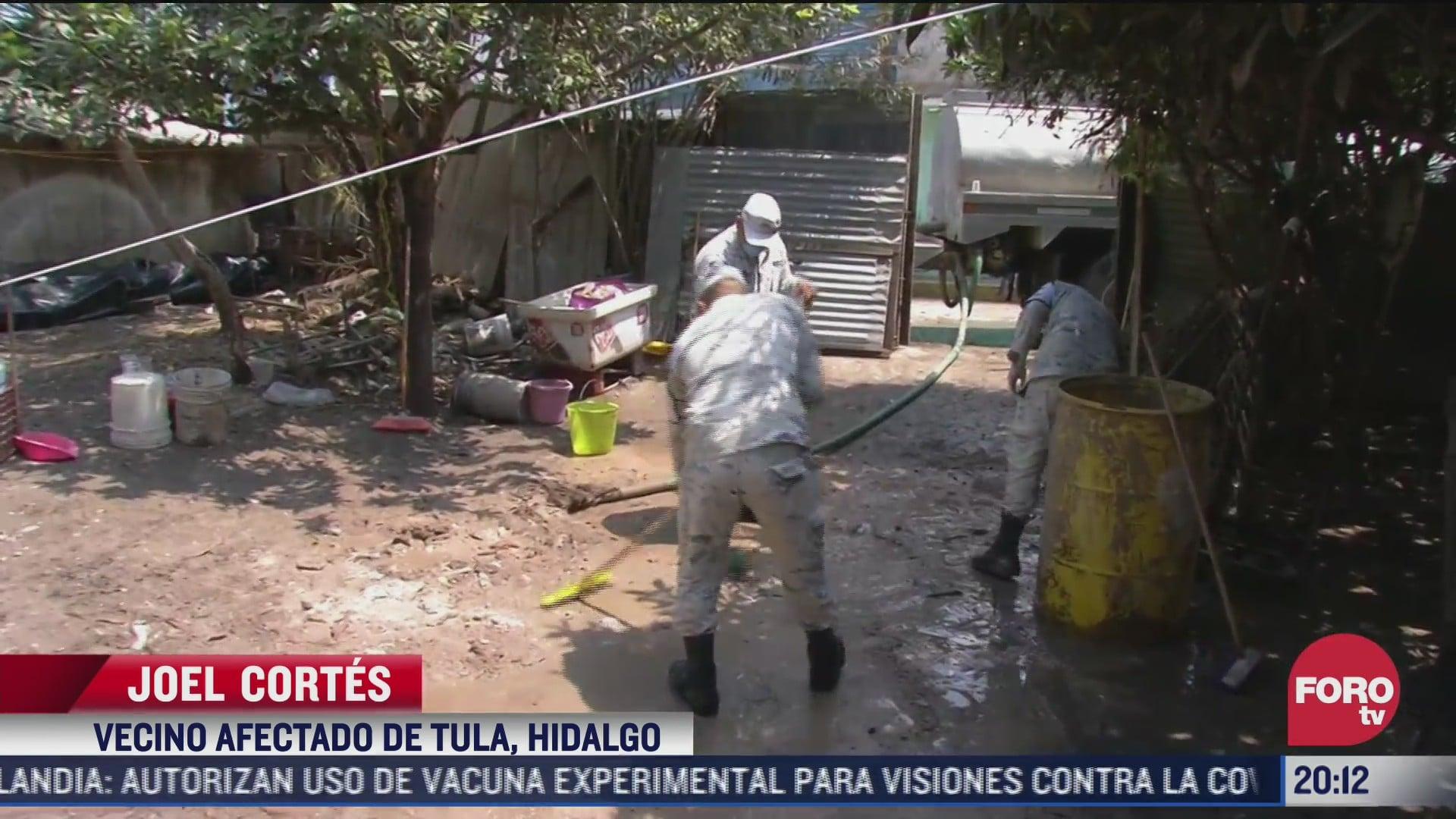 continuan labores de limpieza en tula hidalgo tras las lluvias de hace 23 dias