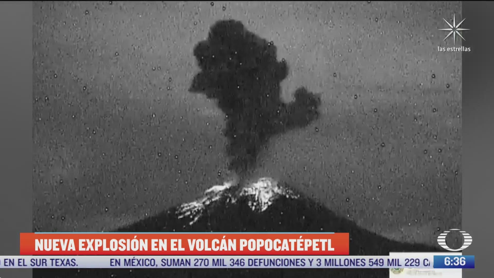 continuan las explosiones en el volcan popocatepetl
