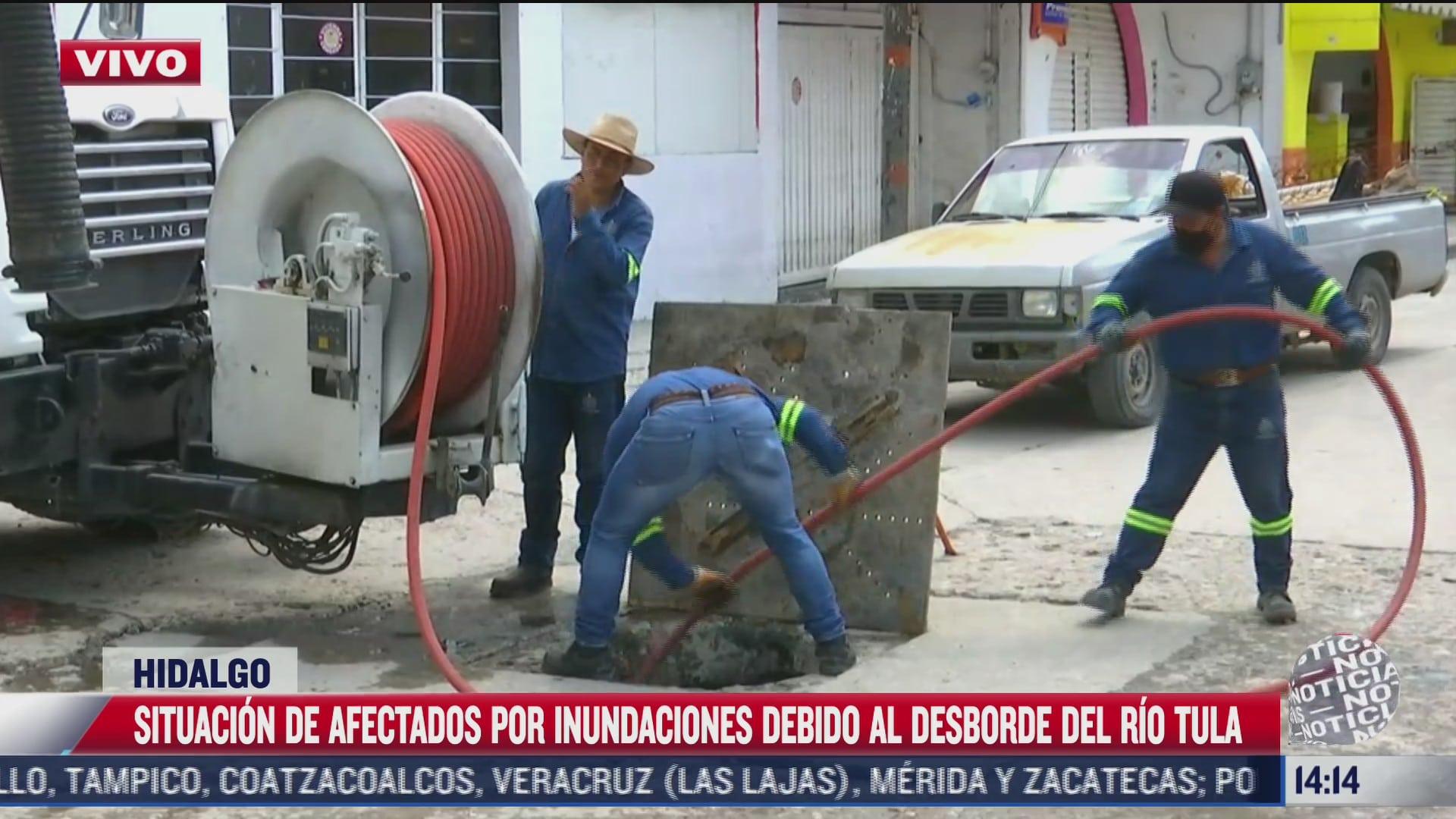 continuan los trabajos de limpieza por las inundaciones en tula