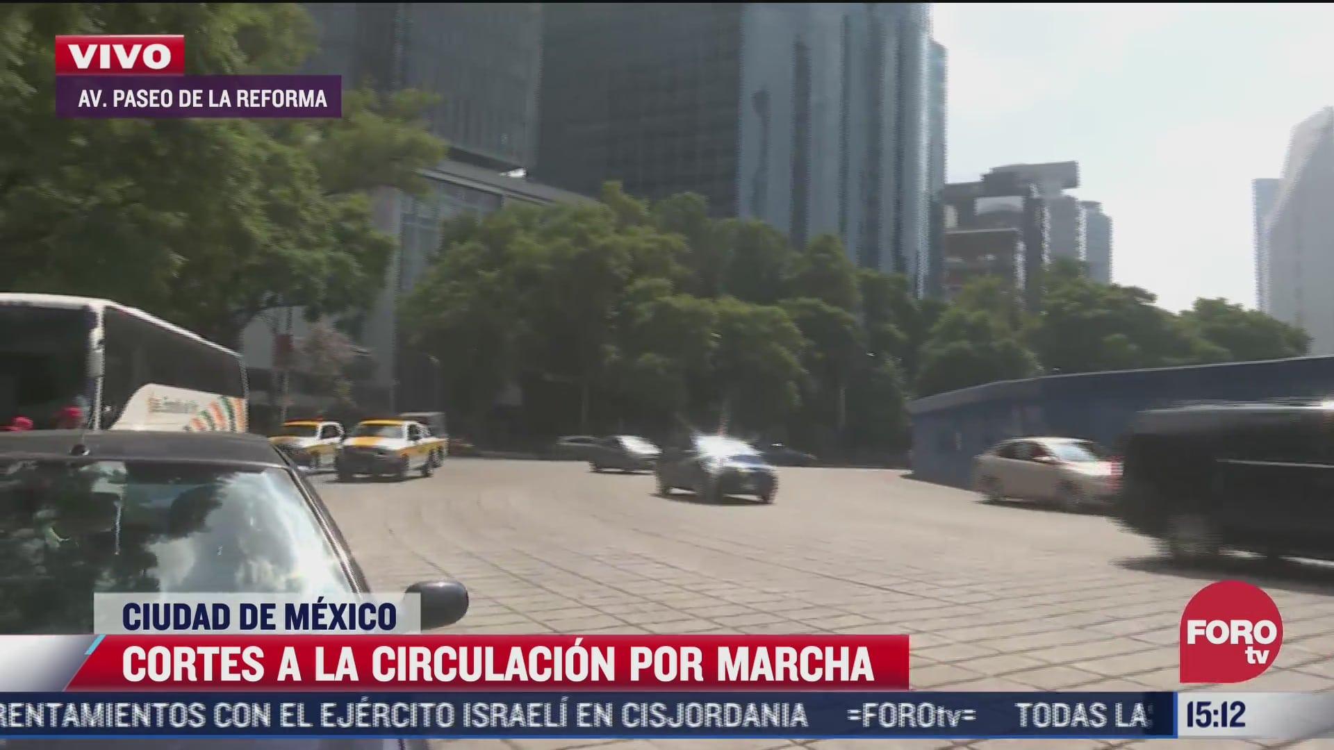 cortes a la circulacion por marcha de ayotzinapa en cdmx