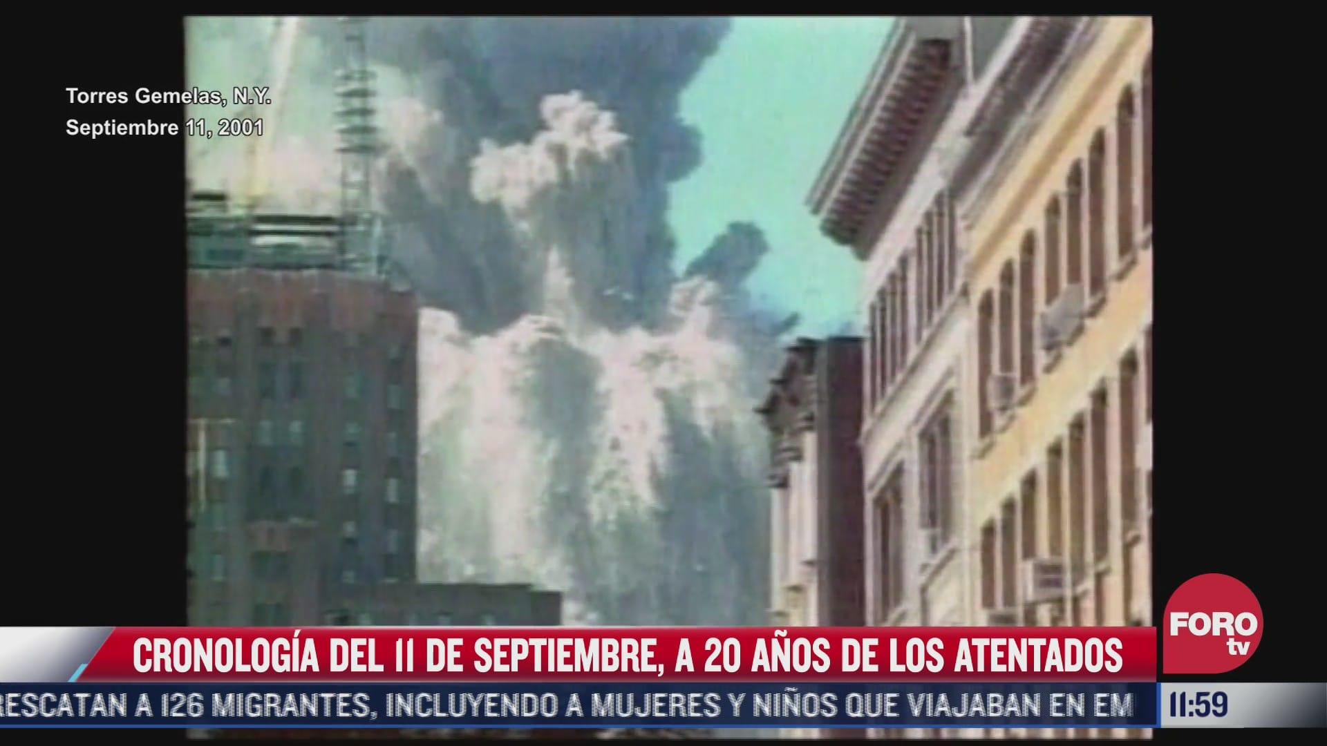 cronologia del 11 de septiembre a 20 anos de los atentados