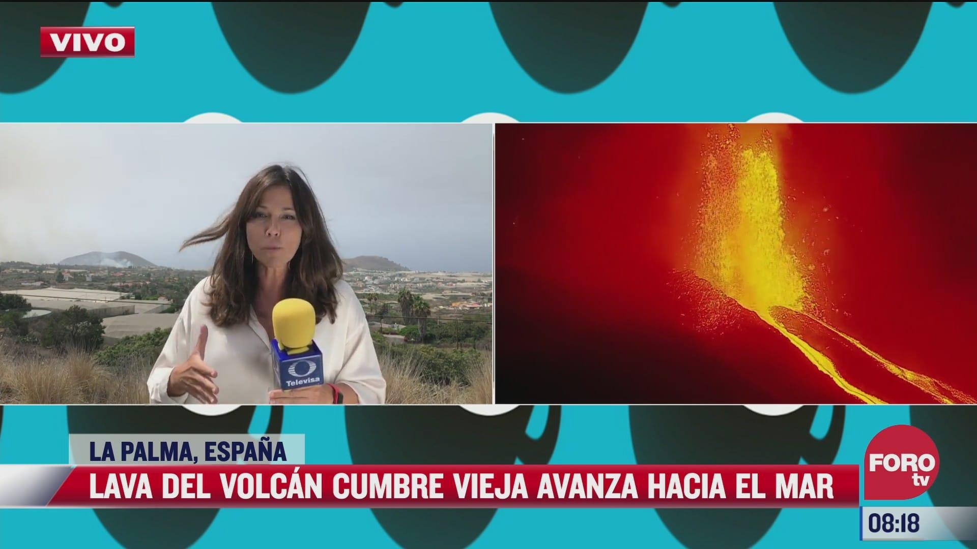 cumbre del volcan cumbre vieja en espana se dirige al mar