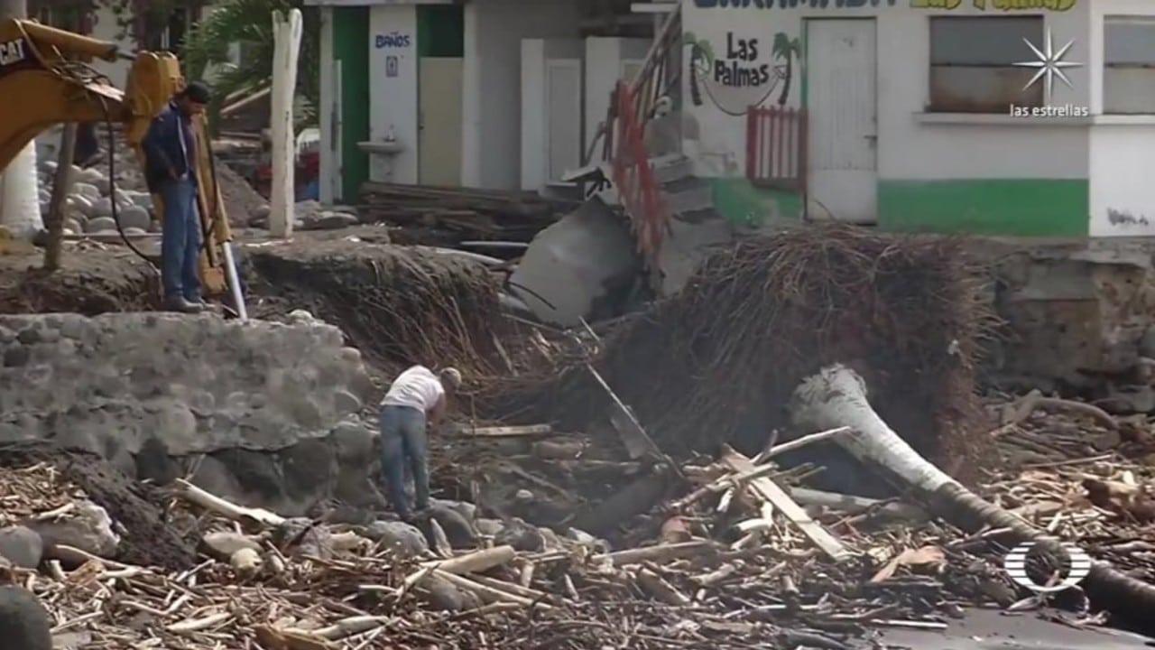 Damnificados por Nora y Grace, siguen sufriendo estragos; esperan apoyo para reconstruir casas y negocios